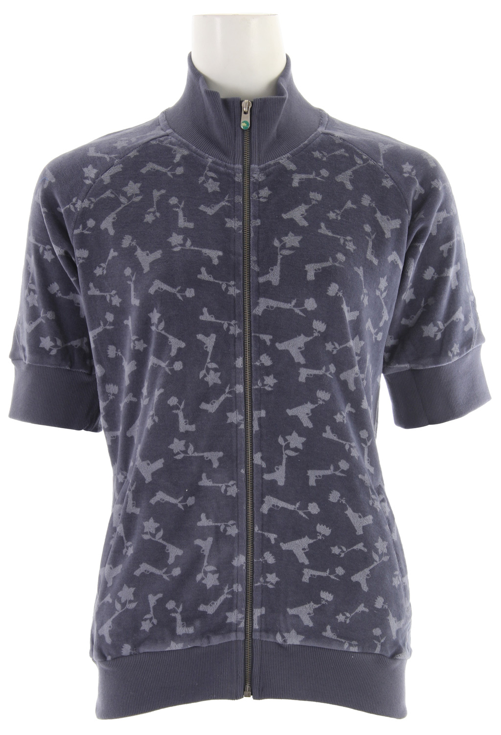 Snowboard Burton Stray Bullet Zip Shirt Night Loch Blue - $18.95