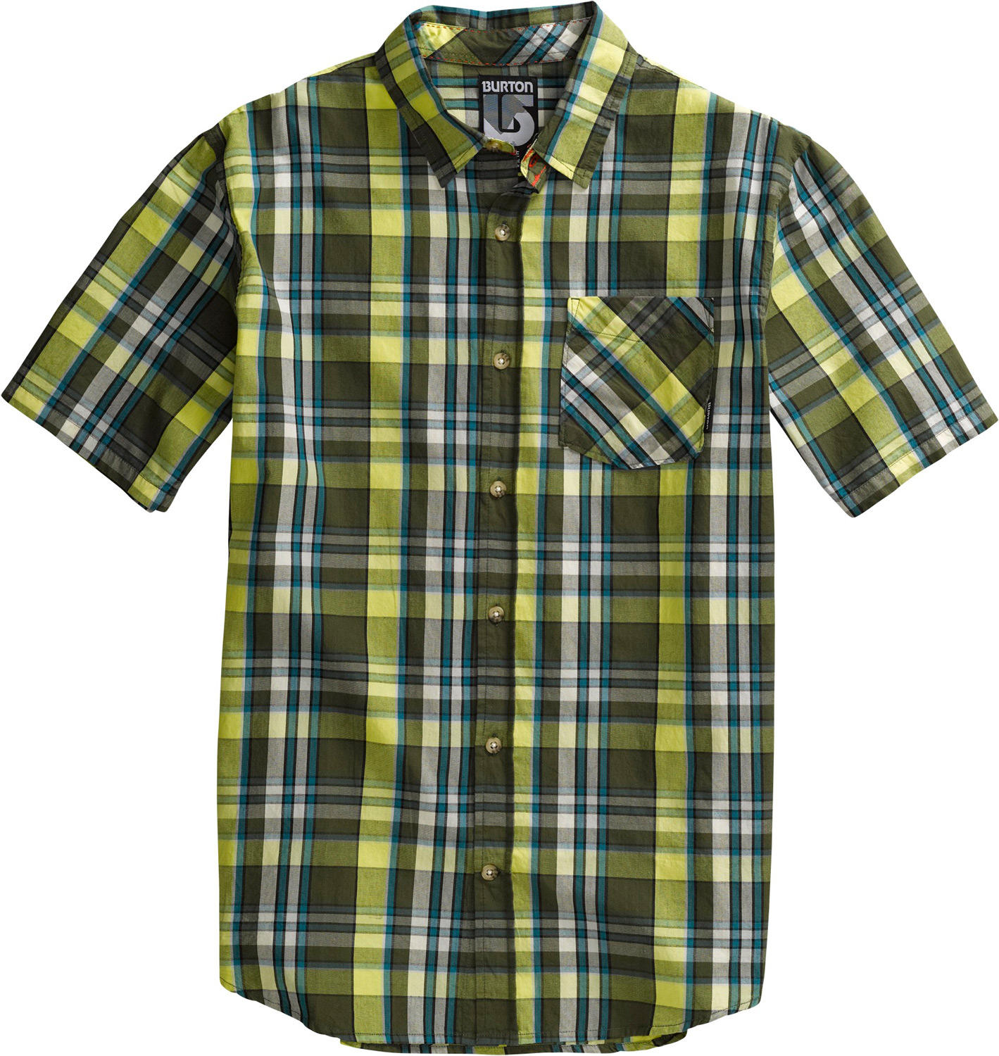 Snowboard Key Features of the Burton Wrench Shirt: 100% Cotton Lightweight Yarn-Dyed short sleeve button-up Sig Fit - $33.95