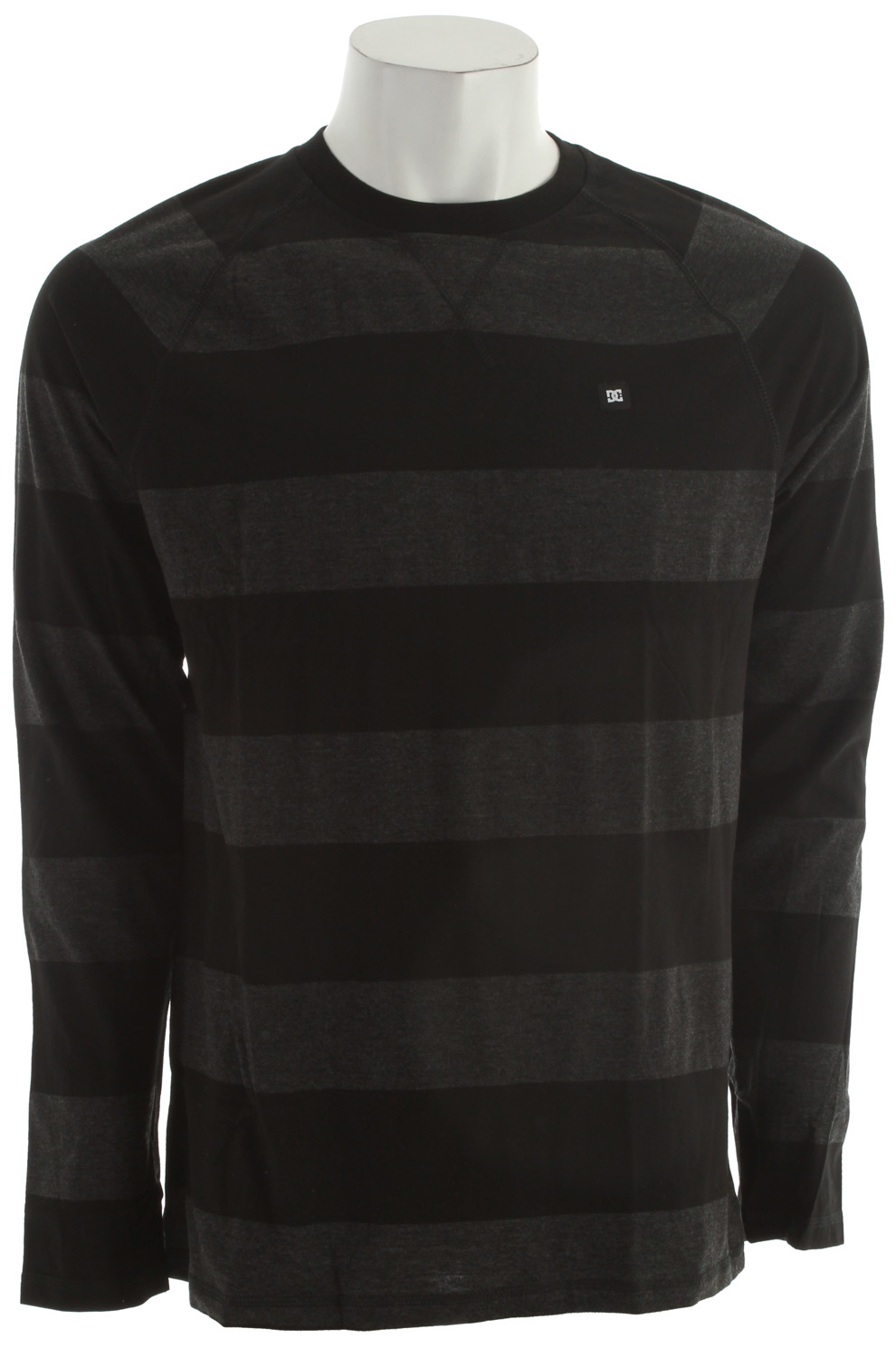 Skateboard Overdye L/S Striped Crew. Raglan Sleeves. Jersey Neck Taping. 82% Cotton, 18% Polyester Jersey. - $28.95