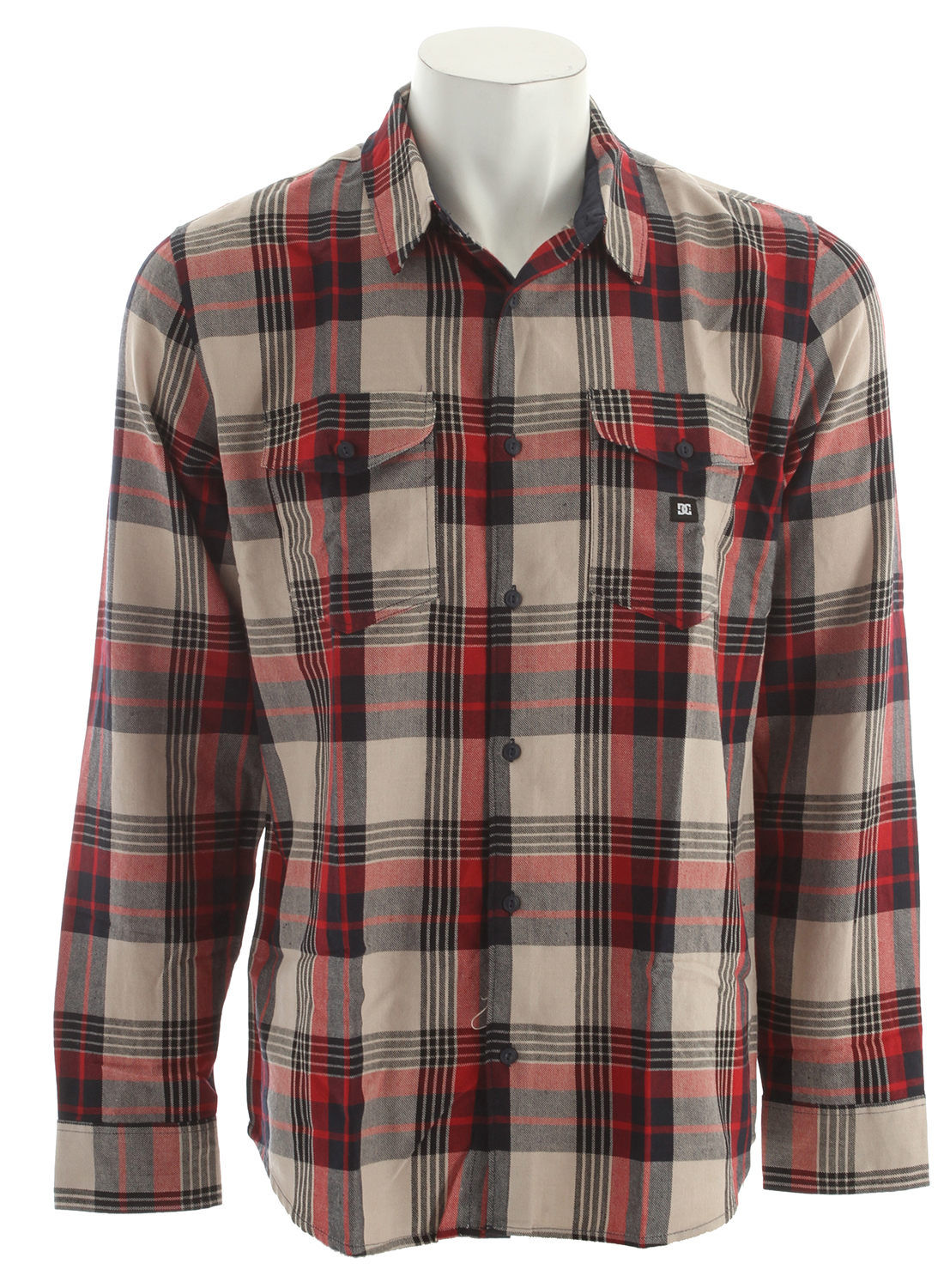 Skateboard Key Features of the DC Hackelman L/S Shirt: Cotton Polyester Yarn Dye Plain Plaid Taffeta Lining at Collar Yoke DC Woven Label at Left Chest Pocket 55% Cotton, 45% Polyester - $38.95