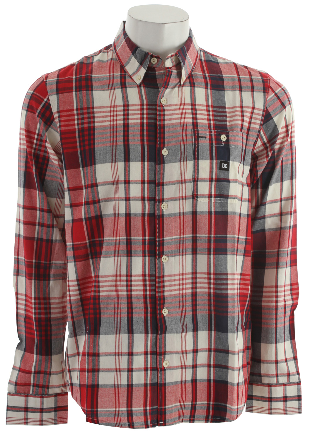 Skateboard Key Features of the DC Pike L/S Shirt: Cotton Yarn Dye Plaid. 100% Cotton. - $27.96
