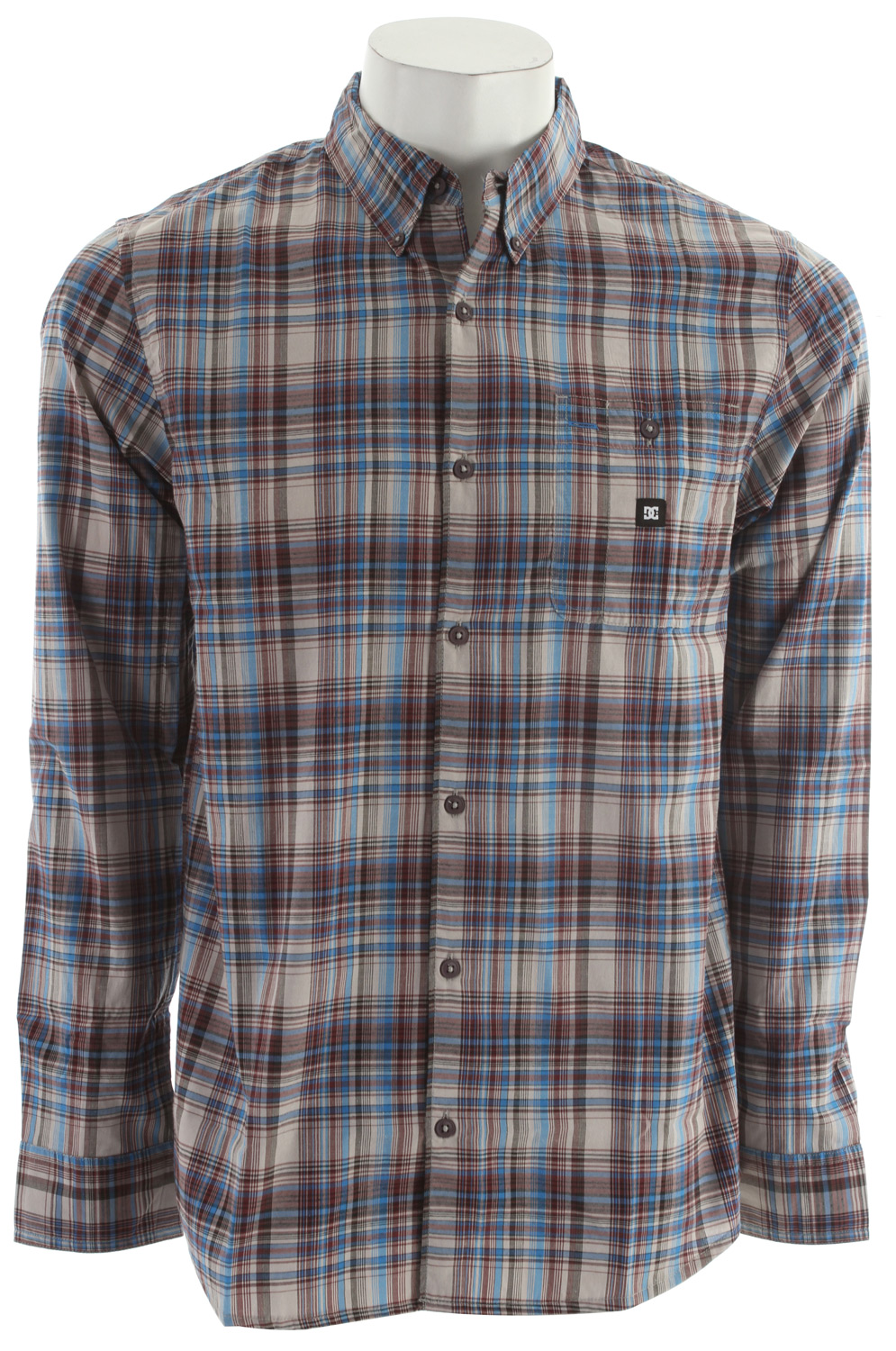 Skateboard Key Features of the DC Wire L/S Shirt: Cotton Poly Yarn Dye Plaid. 55% Cotton, 45% Polyester. - $31.95