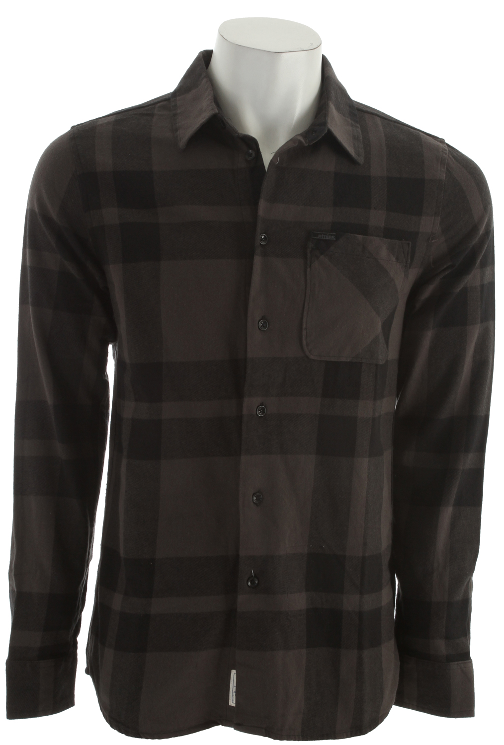 Skateboard Key Features of the Etnies Chi Town Repel Shirt: 100% cotton yarn dye Classic buffalo plaid long sleeve flannel Repel water resistant finish Single chest pocket Custom trims and label package - $38.95