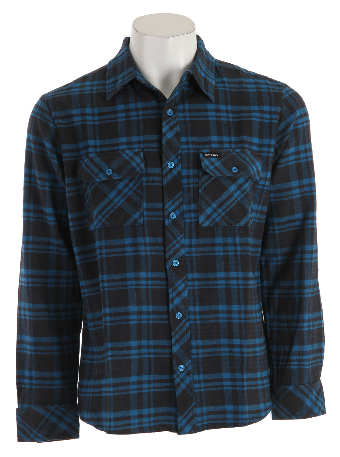 Key Features of the Elwood OG Flannel Shirt: 100% cotton plaid flannel shirt Elwood stock logo buttons and trim package - $49.95