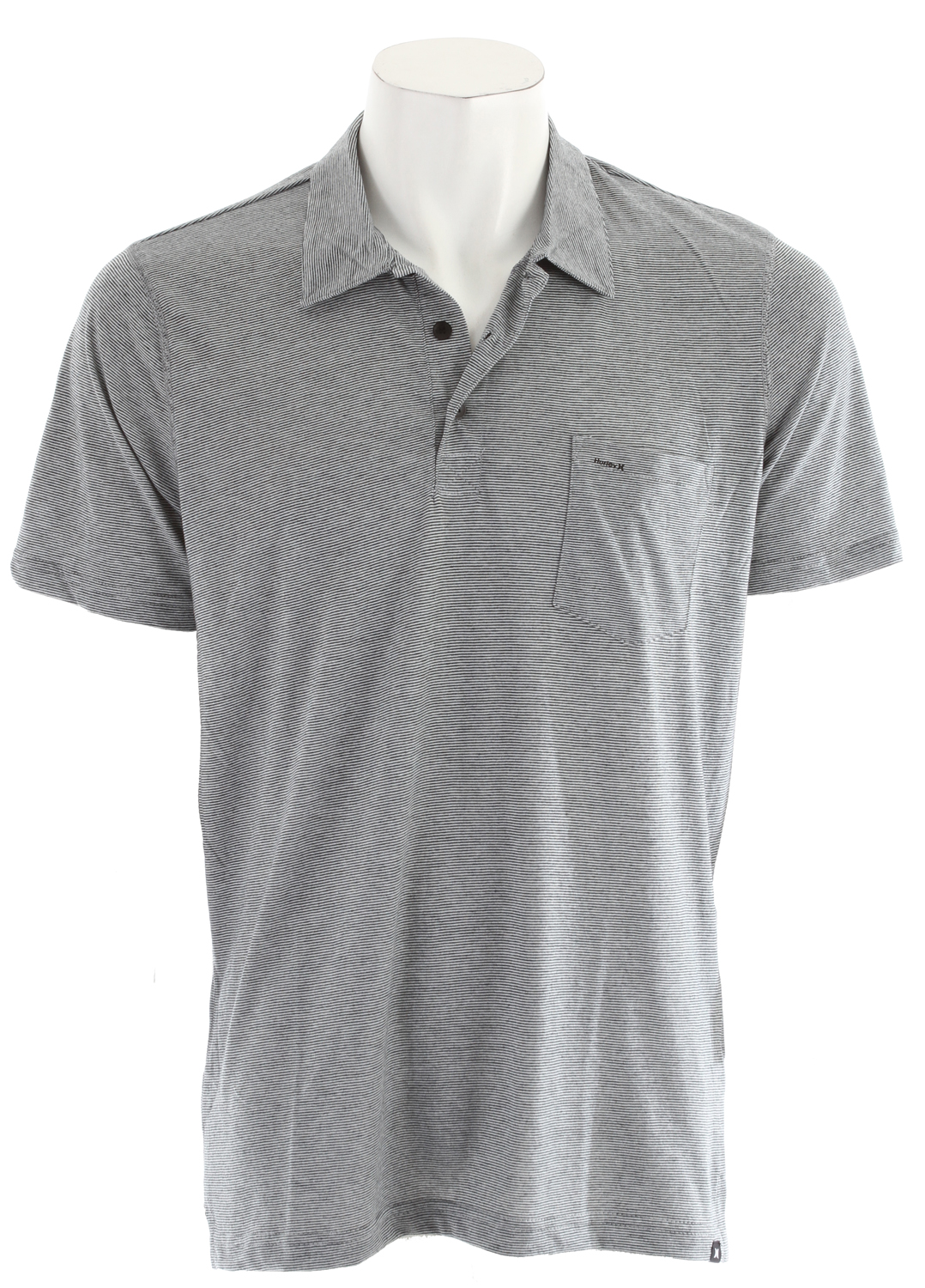Surf Key Features of the Hurley Staple Mini Stripe Polo: 67% Polyester/33% Cotton Pocket with woven Hurley label - $21.95