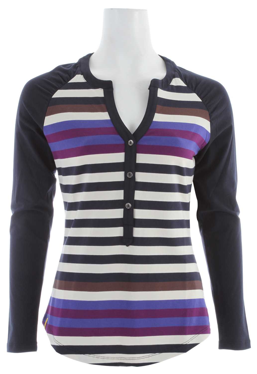 Lole Theory Henley Shirt Spectrum/Eclipse Stripe - $45.95