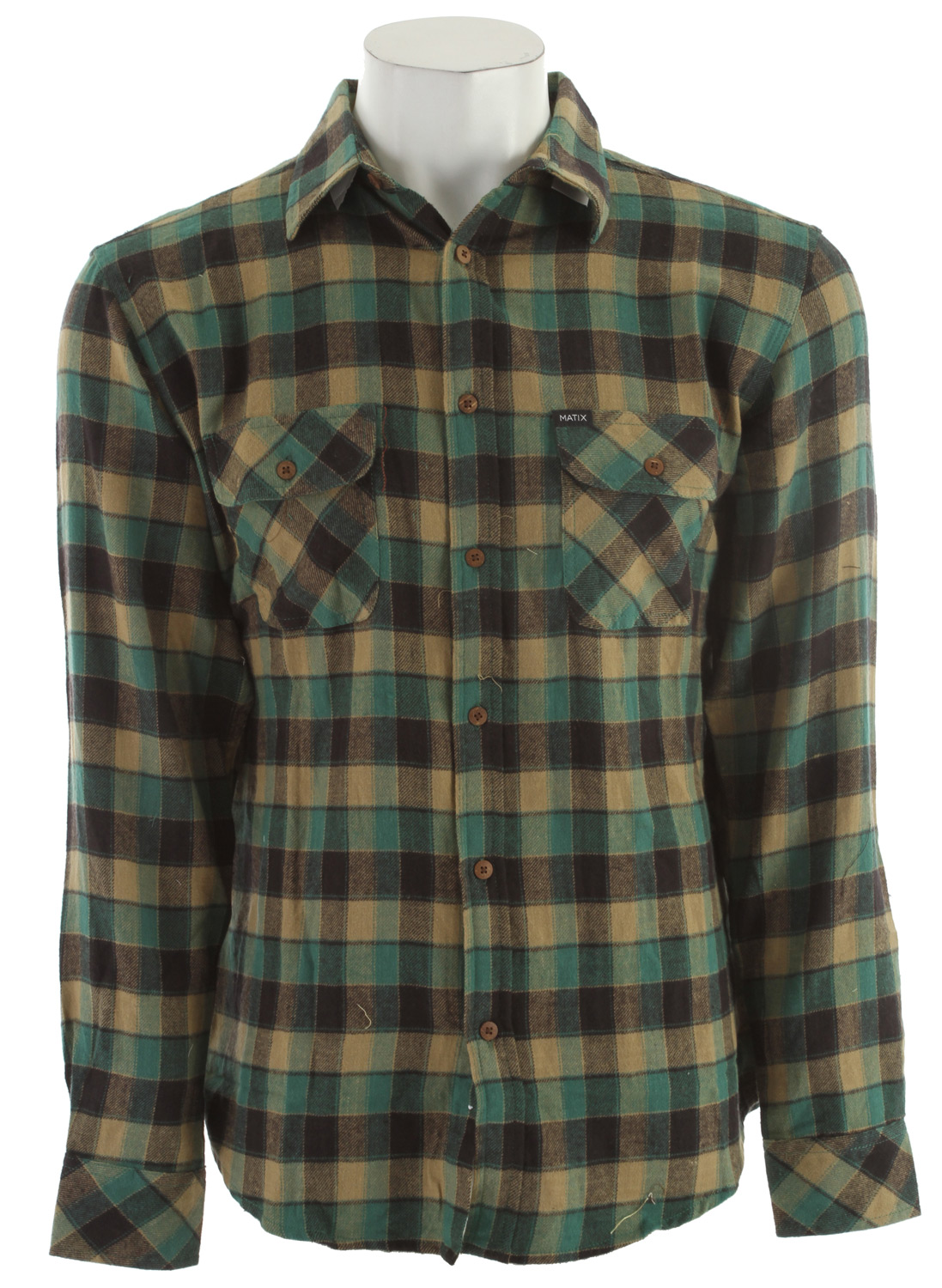 Key Features of the Matix Americana Flannel: 100% COTTON Lightweight brushed flannel with dual chest pockets, wood buttons. Slim Fit. Matix/Marc Johnson signature labeling. AMERICANA MARC JOHNSON SIGNATURE - $37.95