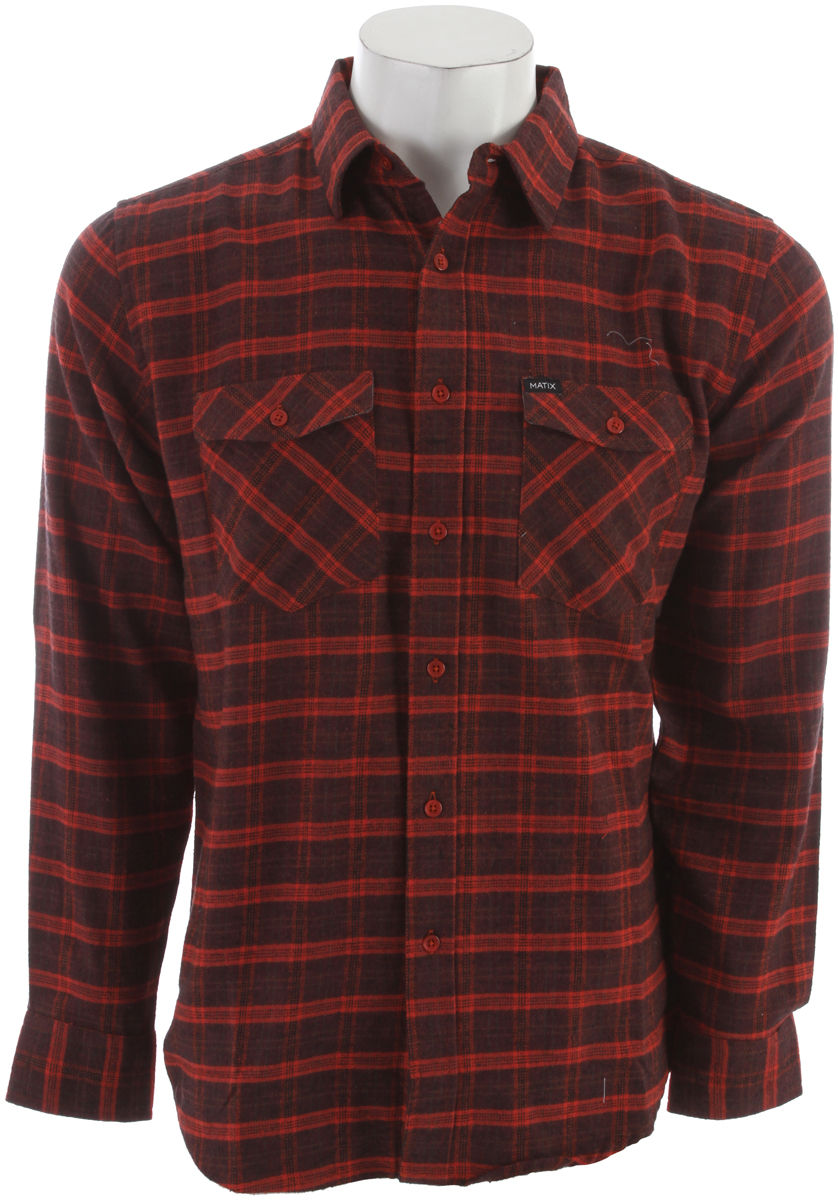 Key Features of the Matix Bidder Flannel Burnt Orange: Key Features of the Matix Bidder Flannel Burnt Orange: 100% cotton flannel Great plaid Chest pockets Chambray detail - $37.95