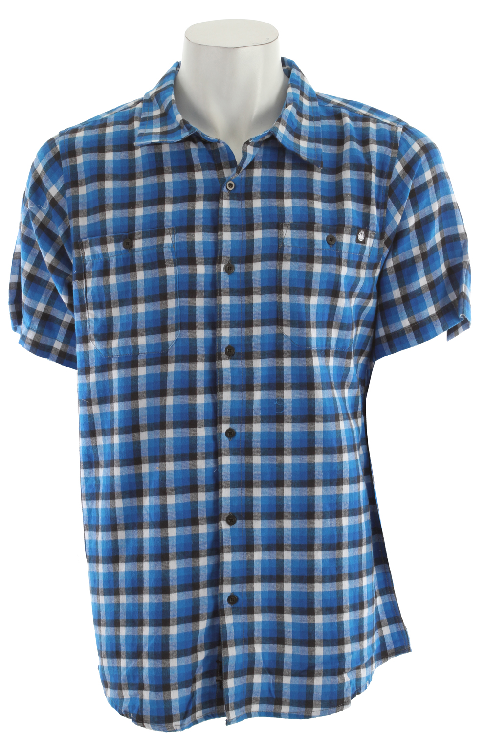 Nomis Fade Plaid Shirt New Blue Fade Plaid - $24.95