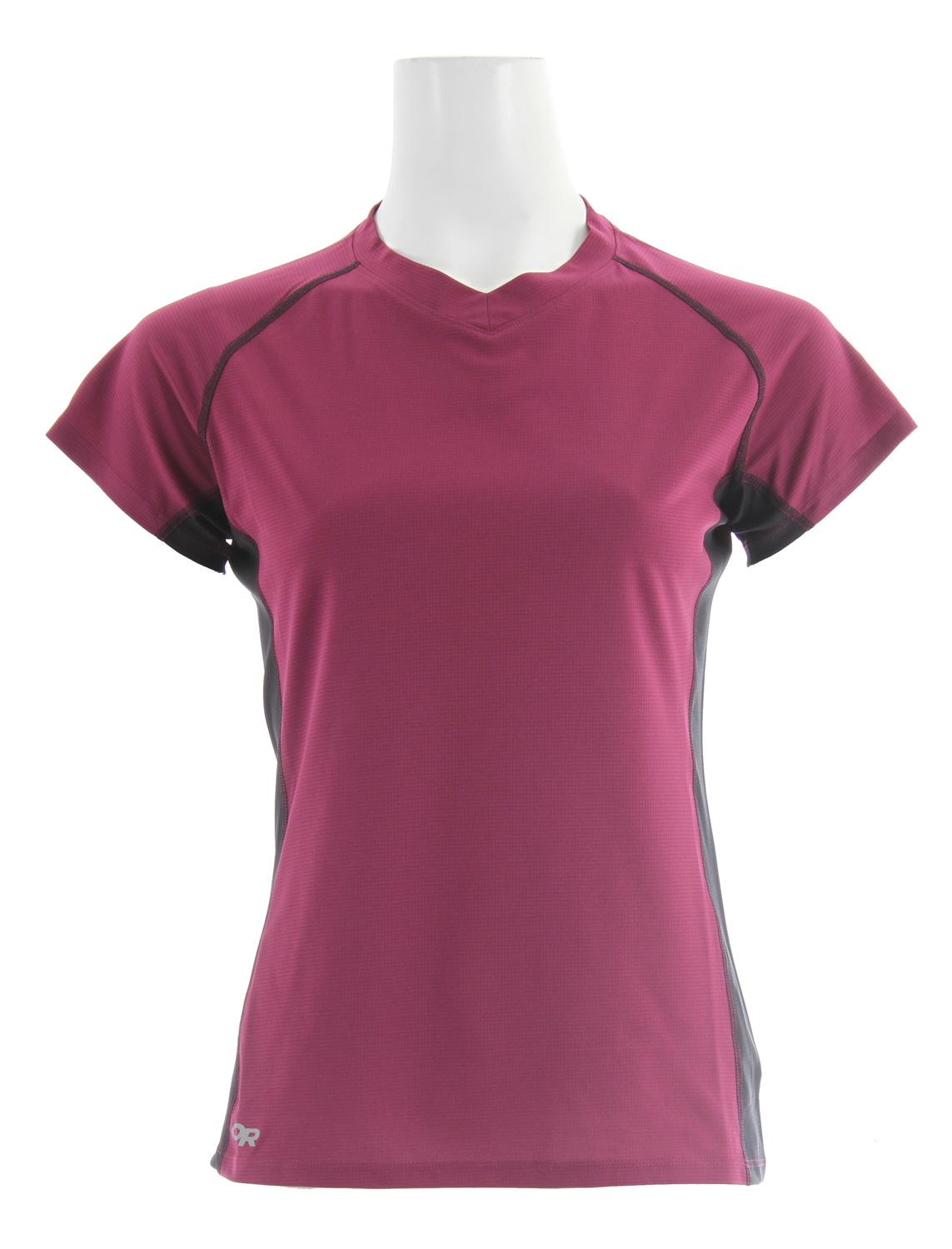 Fitness Pace your run through sunny basins and shaded forests in this light, trail-oriented tee. Polyester AirVent fabric manages moisture and provides UPF 15 sun protection. Flat-seam construction reduces chafing and Polygiene odor control keeps it fresh whether it's your second or tenth day out. Key Features of the Outdoor Research Echo Duo T-Shirt:  Lightweight, polyester AirVent fabric dries quickly and manages moisture; UPF 15  Polygiene active odor control  Flat-seam construction reduces chafing  Raglan sleeves  Avg. Weight (oz./g :    2.5 / 71(size medium - $21.95