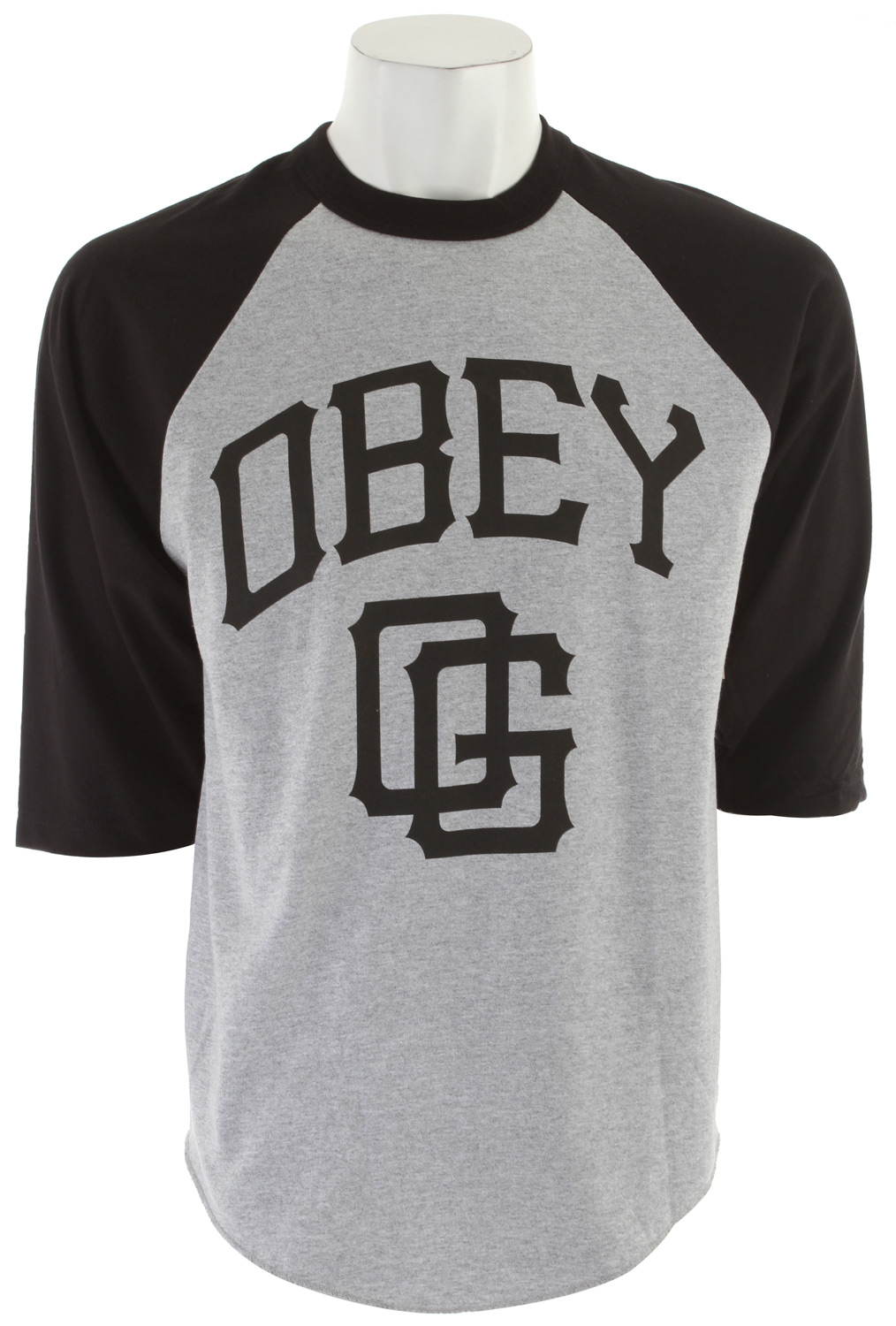 Key Features of the Obey Gigantes Basic Raglan: Heavyweight, regular fit tee Rib crew neck 100% cotton - $16.95