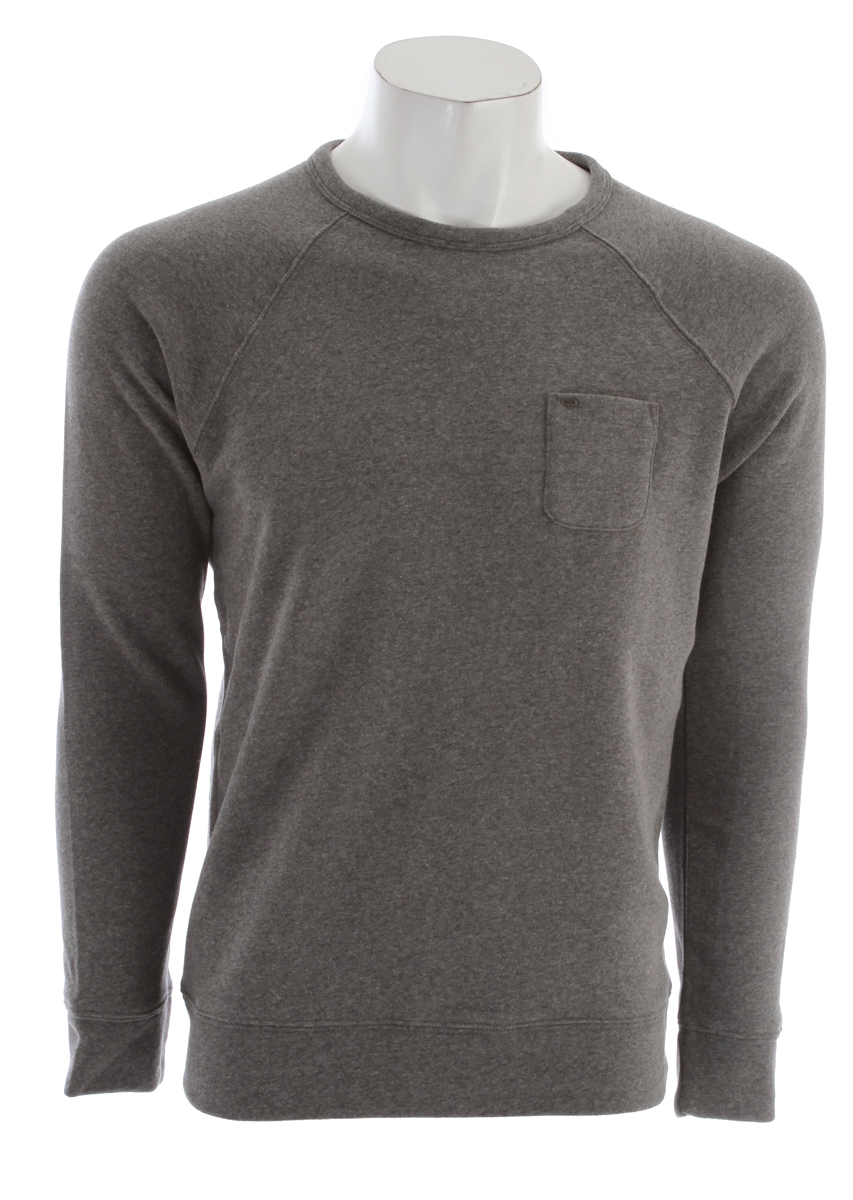 Obey Lofty Creature Comforts Crew Sweatshirt Heather Grey - $36.95