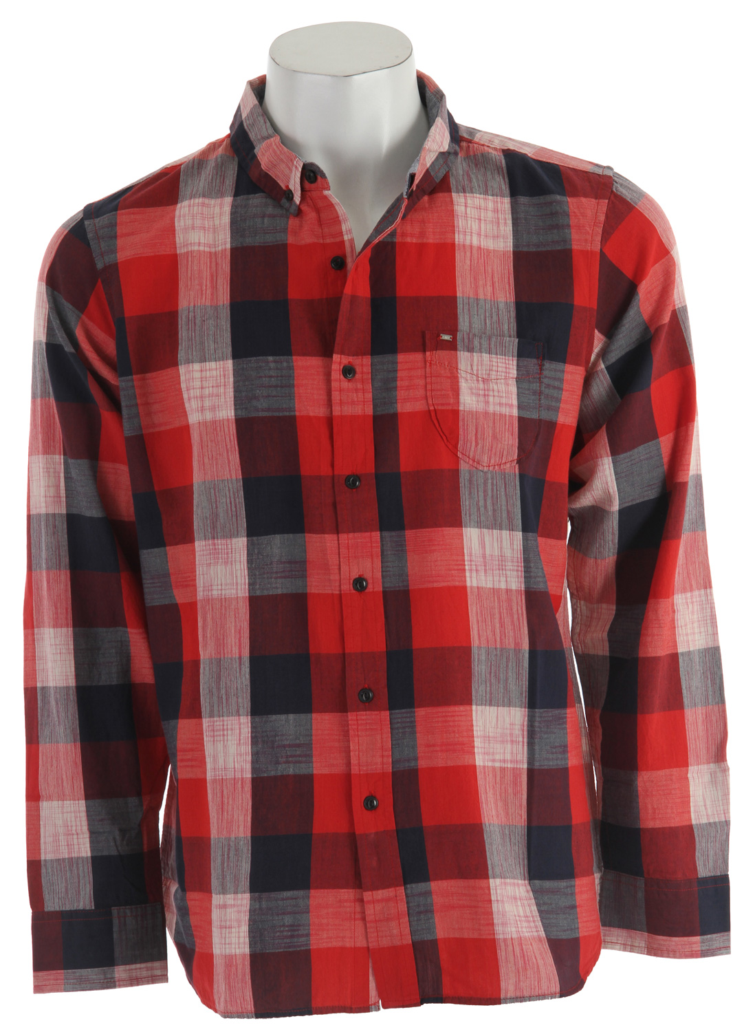 Guns and Military Key Features of the Obey West Indies L/S Shirt: 100% Cotton Slim fit Plaid woven with single chest pocket Chambray interior collar stand and modern mini badge - $43.95