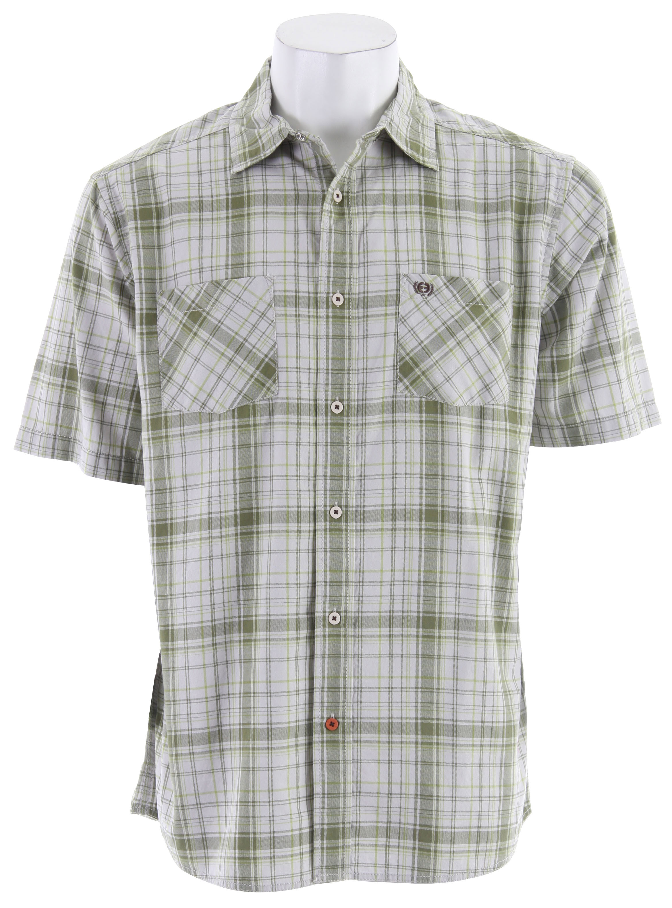 Planet Earth Collins S/S Shirt Pale Green - $20.89