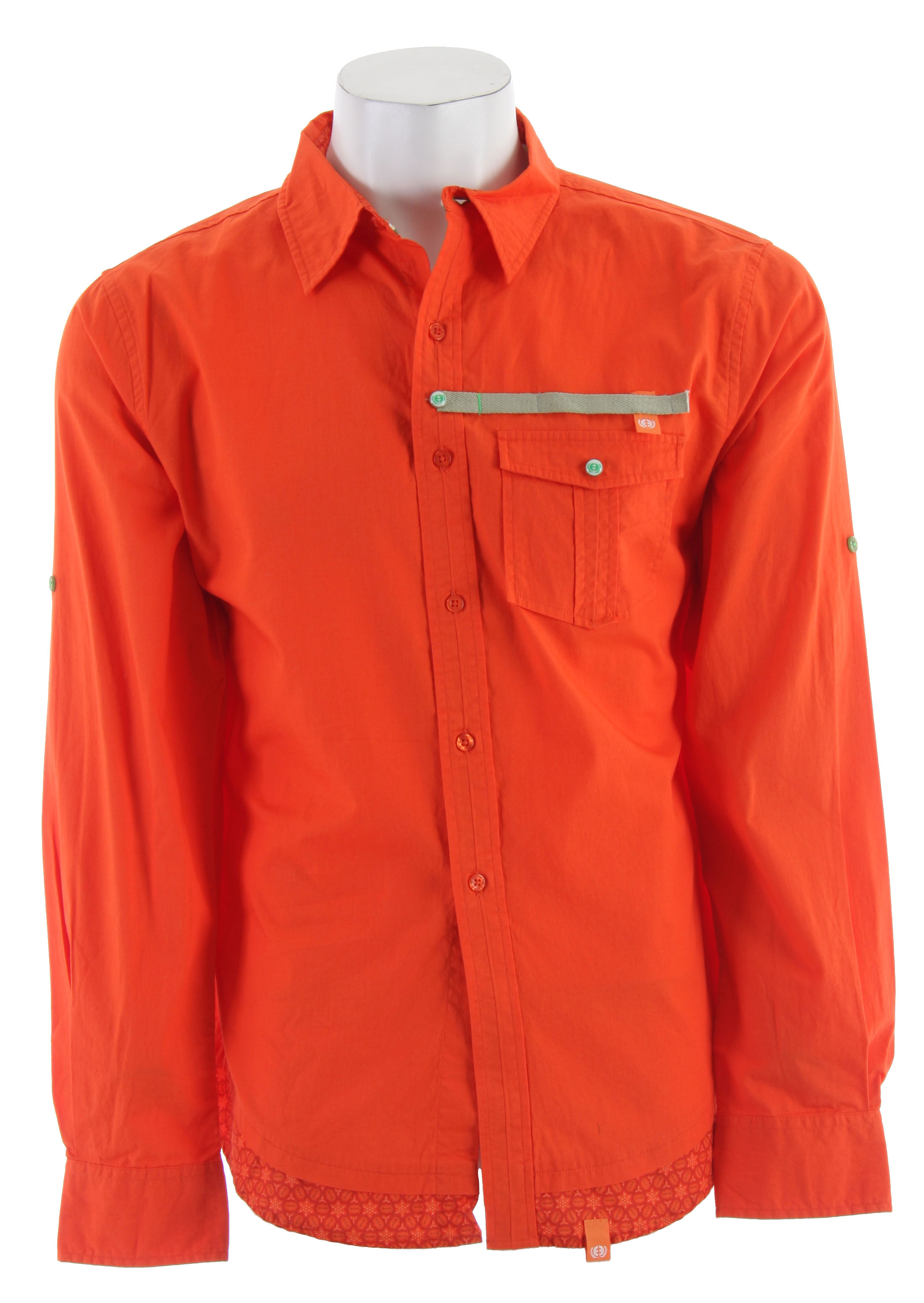 Planet Earth Morocco L/S Shirt Spicy Orange - $18.95