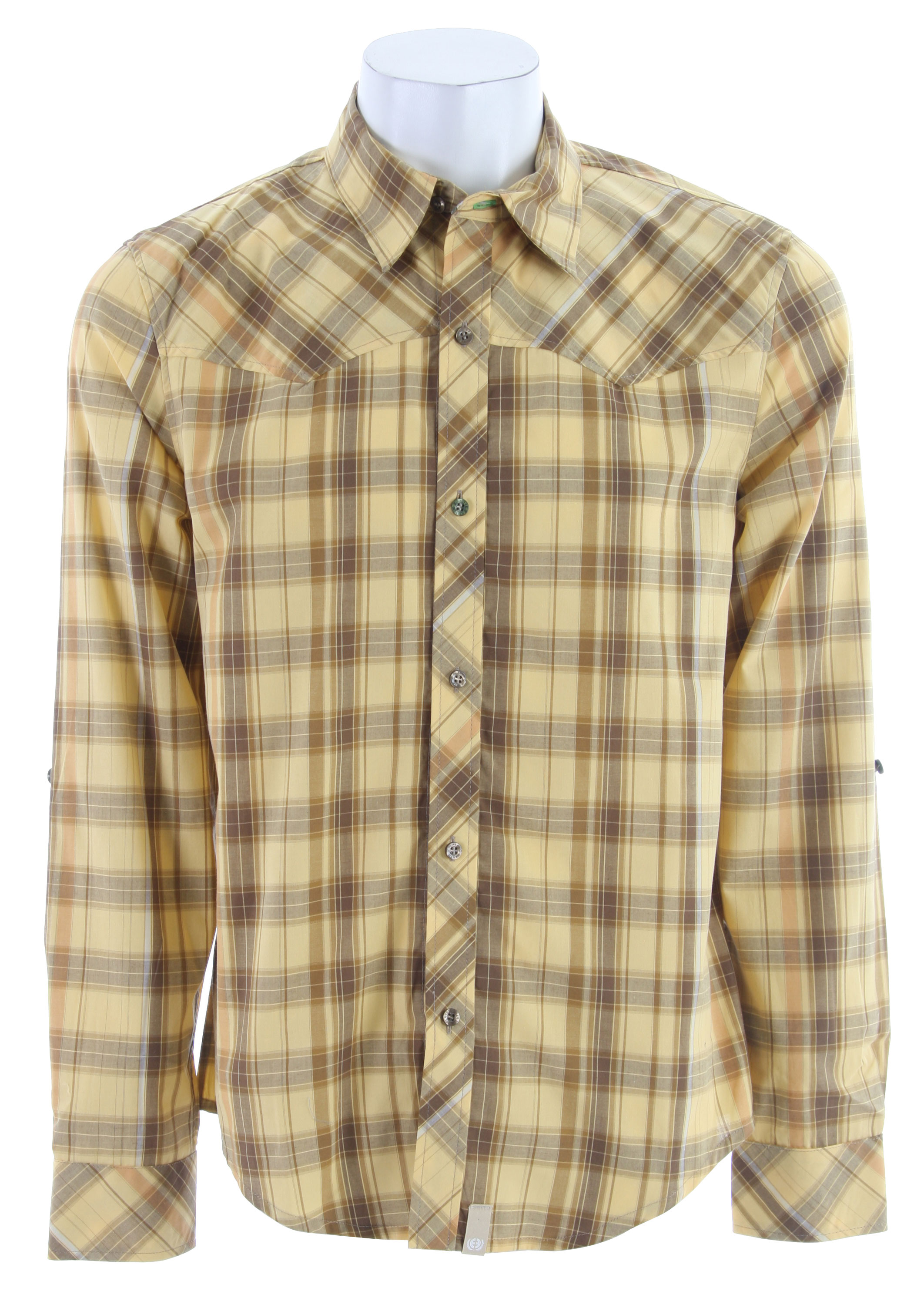 Planet Earth Ranger L/S Shirt Brown Plaid - $20.95