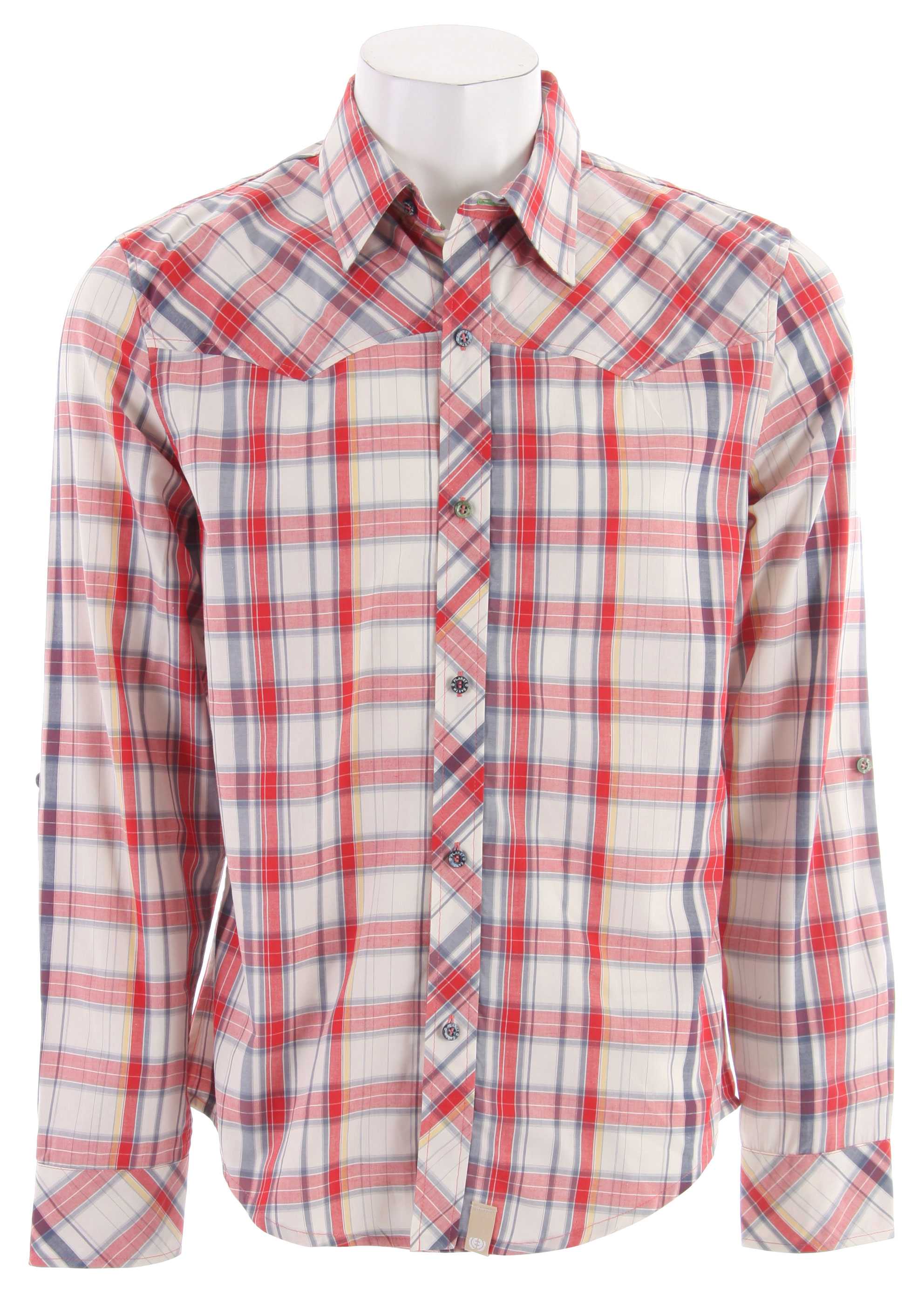 Planet Earth Ranger L/S Shirt Red Plaid - $20.95