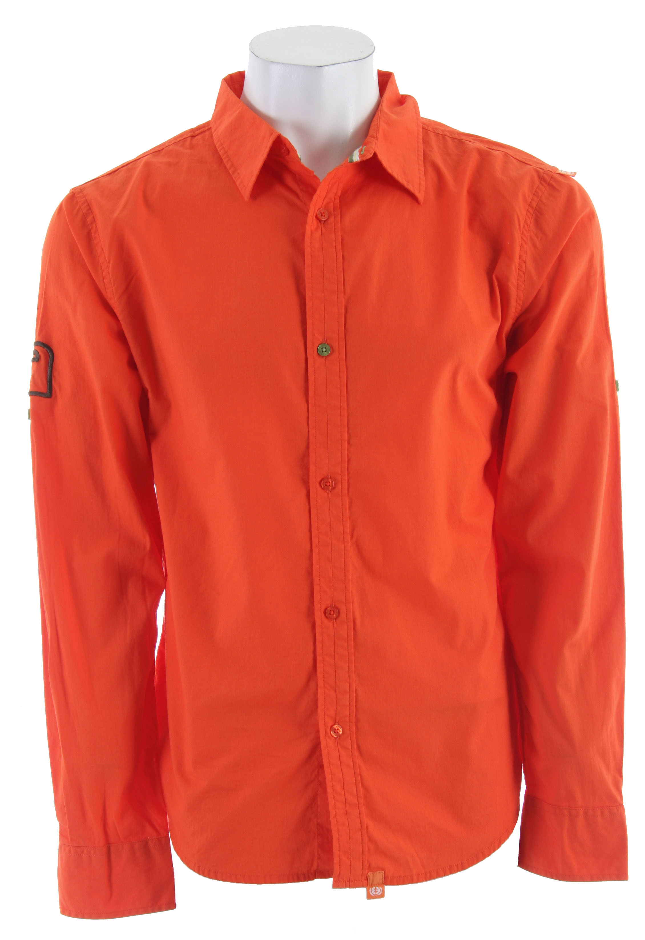 Planet Earth Scout L/S Shirt Spice Orange - $20.95