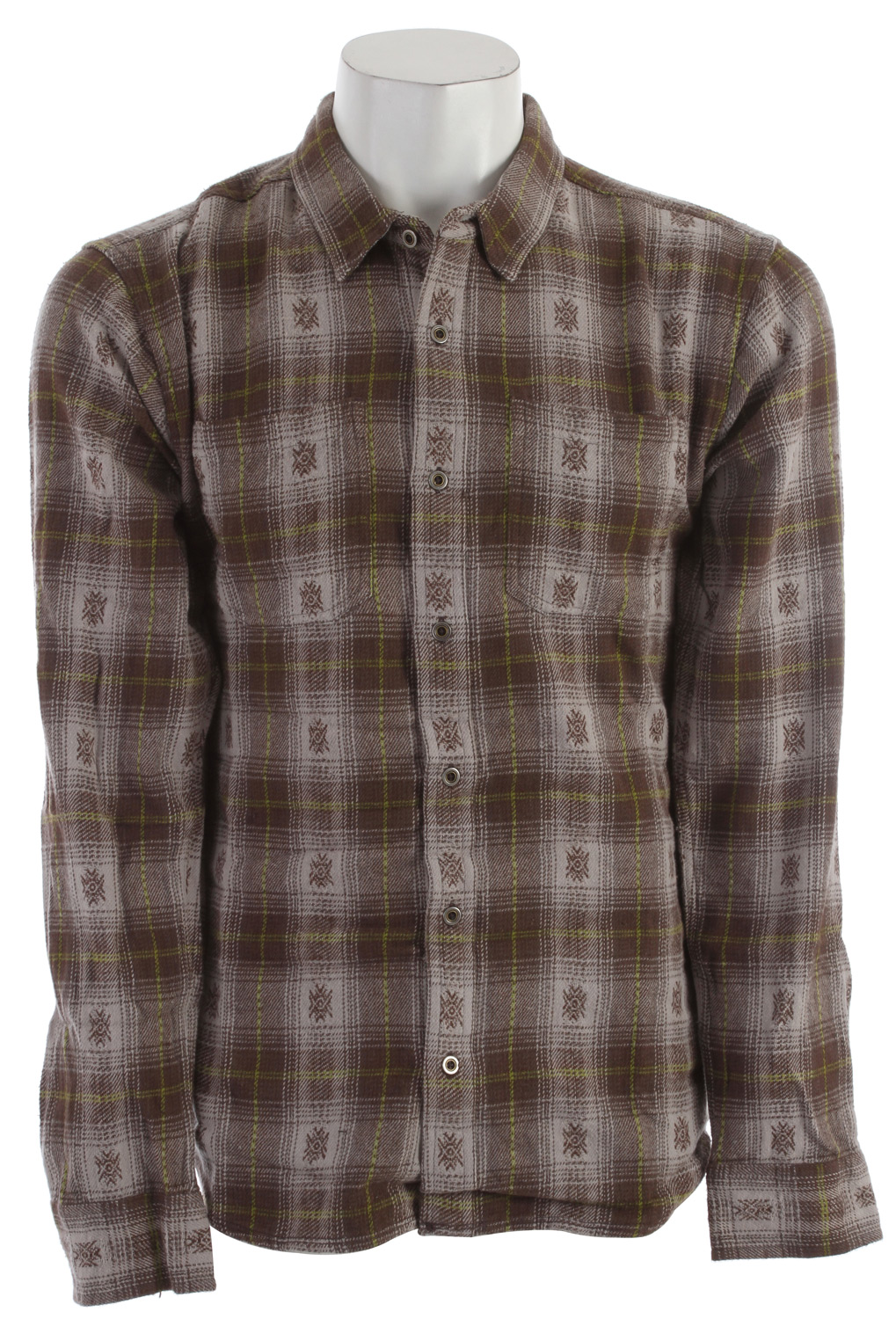 Key Features of the Prana Hickory Flannel: 100% Cotton 6.8oz Yarn dyed flannel with geometric motif Front patch pocket Relaxed fit - $51.95