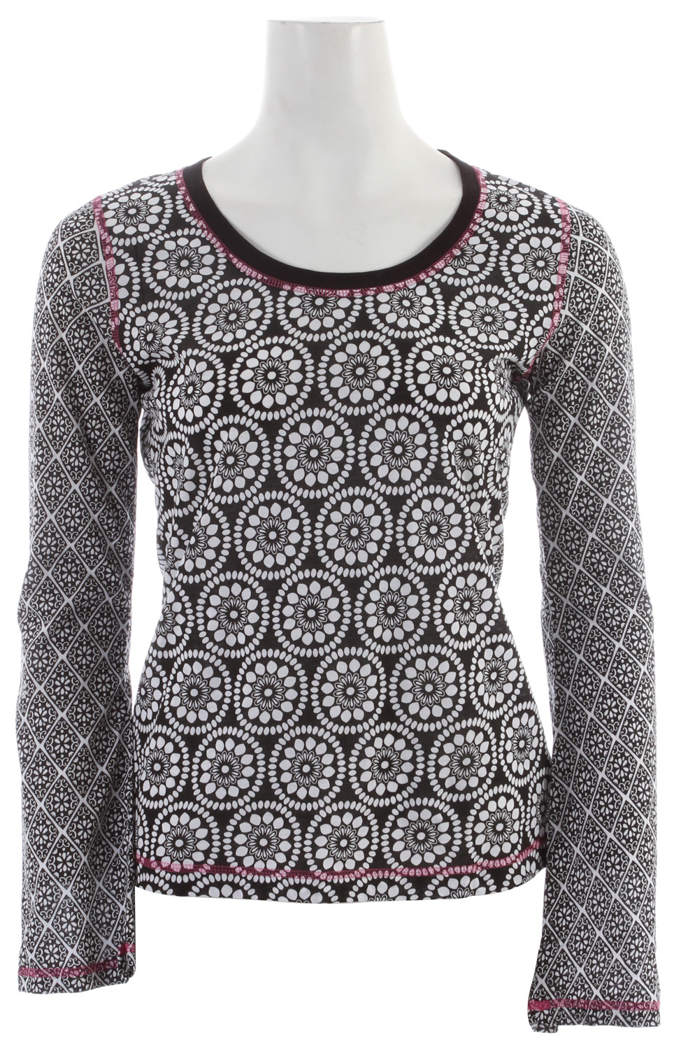 Key Features of the Prana Lisette L/S Top: 100% organic cotton Jersey Scoop neck top with mixed prints - $60.00