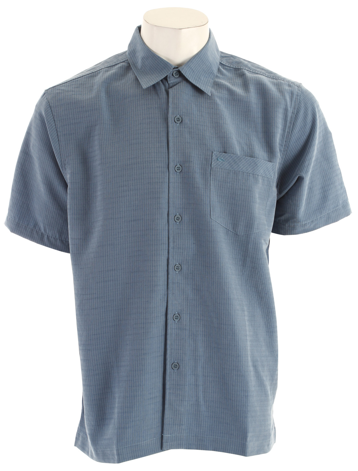 Surf Short sleeve yarn dye shirt with chest pocket and pickstitch detail. 54% polynosic, 46% polyester slub - $34.95