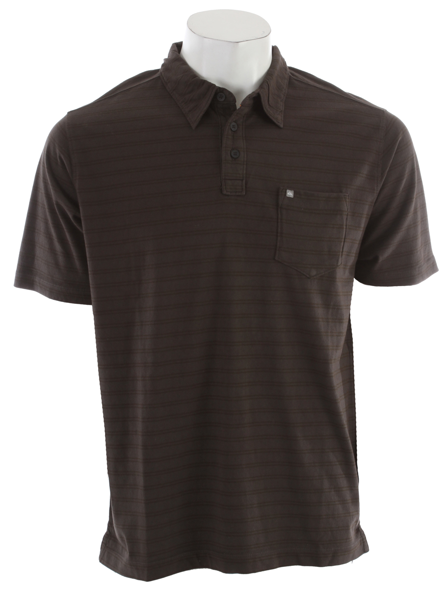 Golf Whether you're planning on playing a little golf, or just looking to take a break from a casual tee, our Coronado Polo Shirt epitomizes casual comfort. Crafted from soft 100% cotton in a cool stripe, our short sleeve top rocks a classic pocket and comfortable collar. Key Features of the Quiksilver Coronado Polo: Machine wash. Garment pigment over-dye yarn dye stripe - $36.95