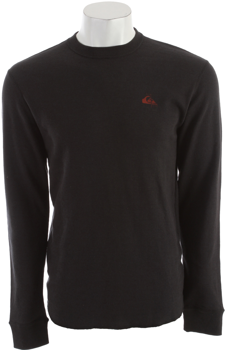 Surf Key Features of the Quiksilver Heartbreak Thermal: 59% cotton, 40% polyester, 1% spandex. Microthermal waffle knit 200 gsm. - $20.95