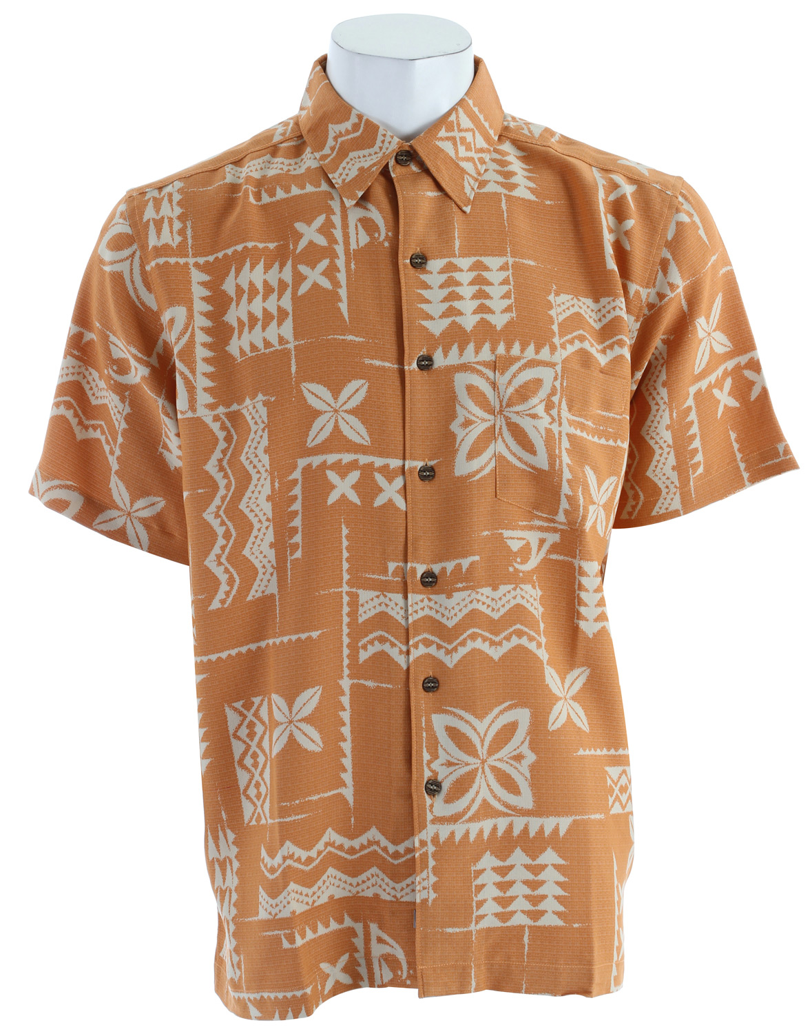 Surf Short sleeve shirt with pocket and chainstitch detail. 86% polynosic, 14% polyester crosshatch - $48.95
