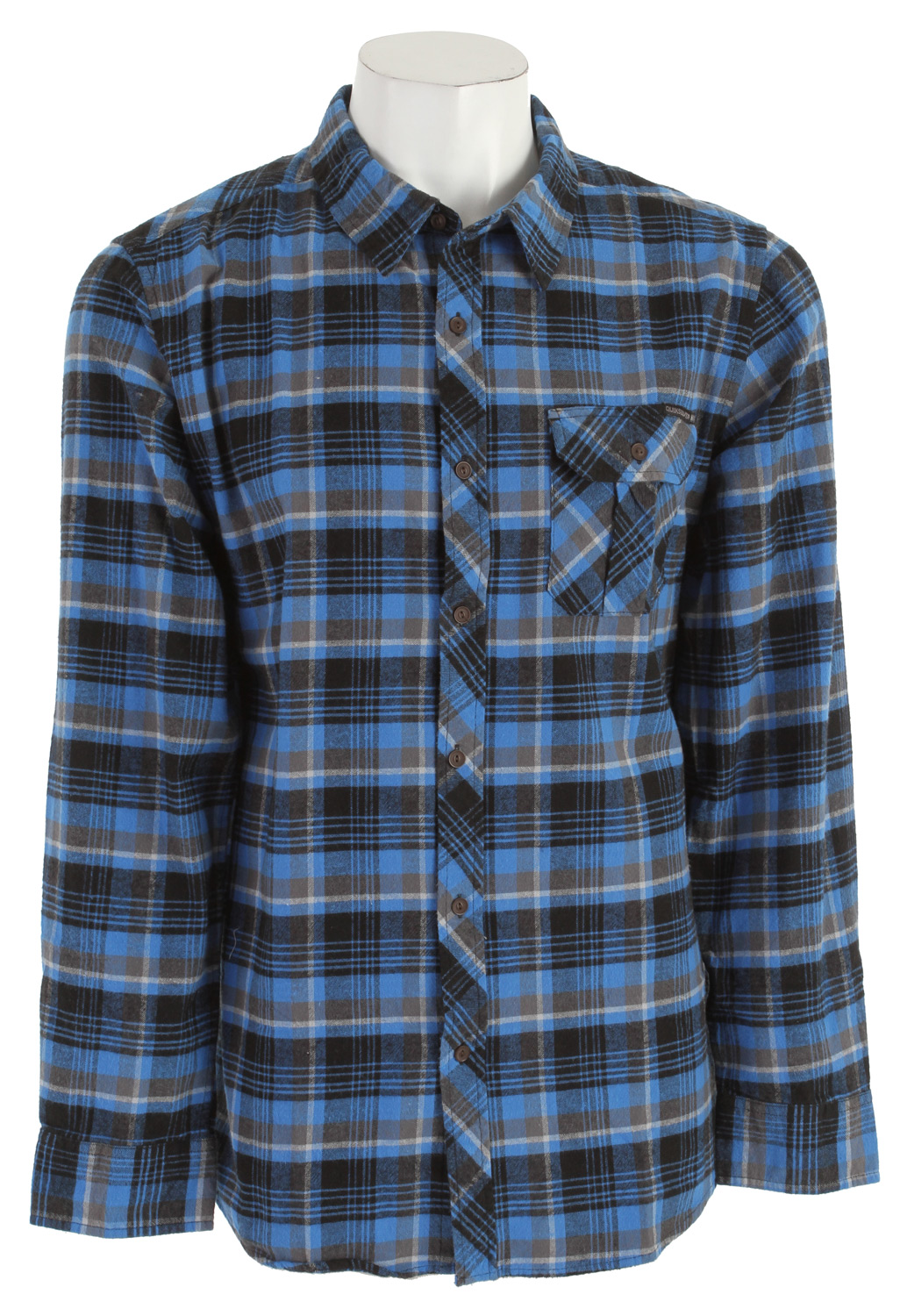 Surf Key Features of the Quiksilver Nicholas L/S Shirt: 100% cotton yard dye flannel plaid Exterior woven label and deluxe Fish eye buttons Interior collar piping and workwear details Garment wash with softener - $33.95
