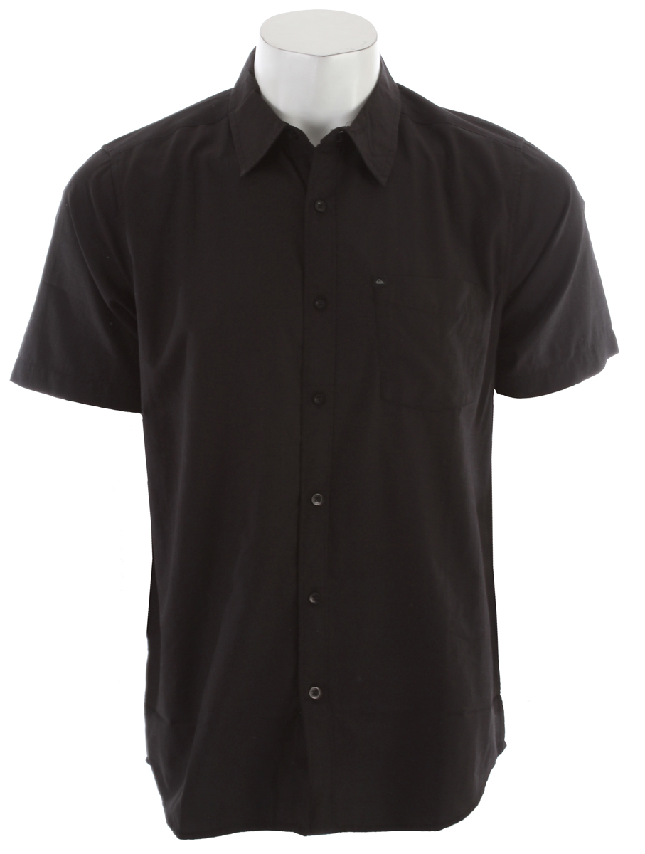 Entertainment Simple colors and a slim fit make this shirt the perfect addition to your 'I'm gonna dress up' quiverKey Features of the Quiksilver Soul Brother Shirt: Slim fit 55% Cotton 45% Polyester blend Short sleeve shirt with single pocket Garment wash with softener Imported - $30.95
