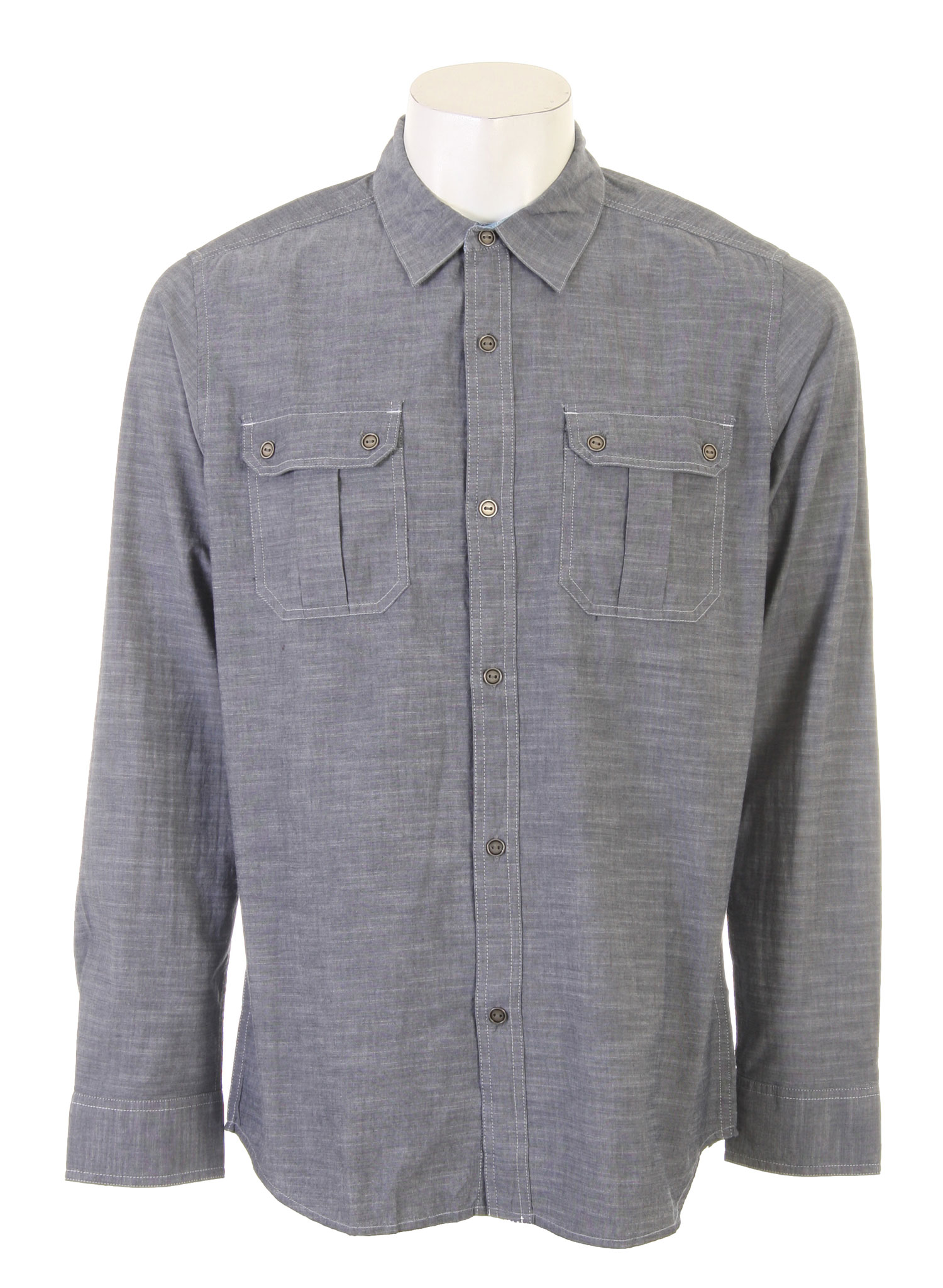 Surf One of the staples of many men's wardrobe is the long sleeved button up shirt. If you are looking for an attractively designed shirt that is classic, but just different enough to stand out from the crowd, then the Tyler Shirt by Quiksilver may be exactly what you are looking for. The shirt is 100% cotton so it will wash easily and look great without too much work. The sleeves have tabs to hold them up if you prefer to wear them rolled up. These features come together to make a shirt that will likely be one of your favorites for years to come.Key Features of the Quiksilver Tyler Shirt: 100% Cotton Long sleeve solid crossfire texture work-wear woven with double pockets Logo embroidery Roll-up sleeve tabs Ice wash - $40.95