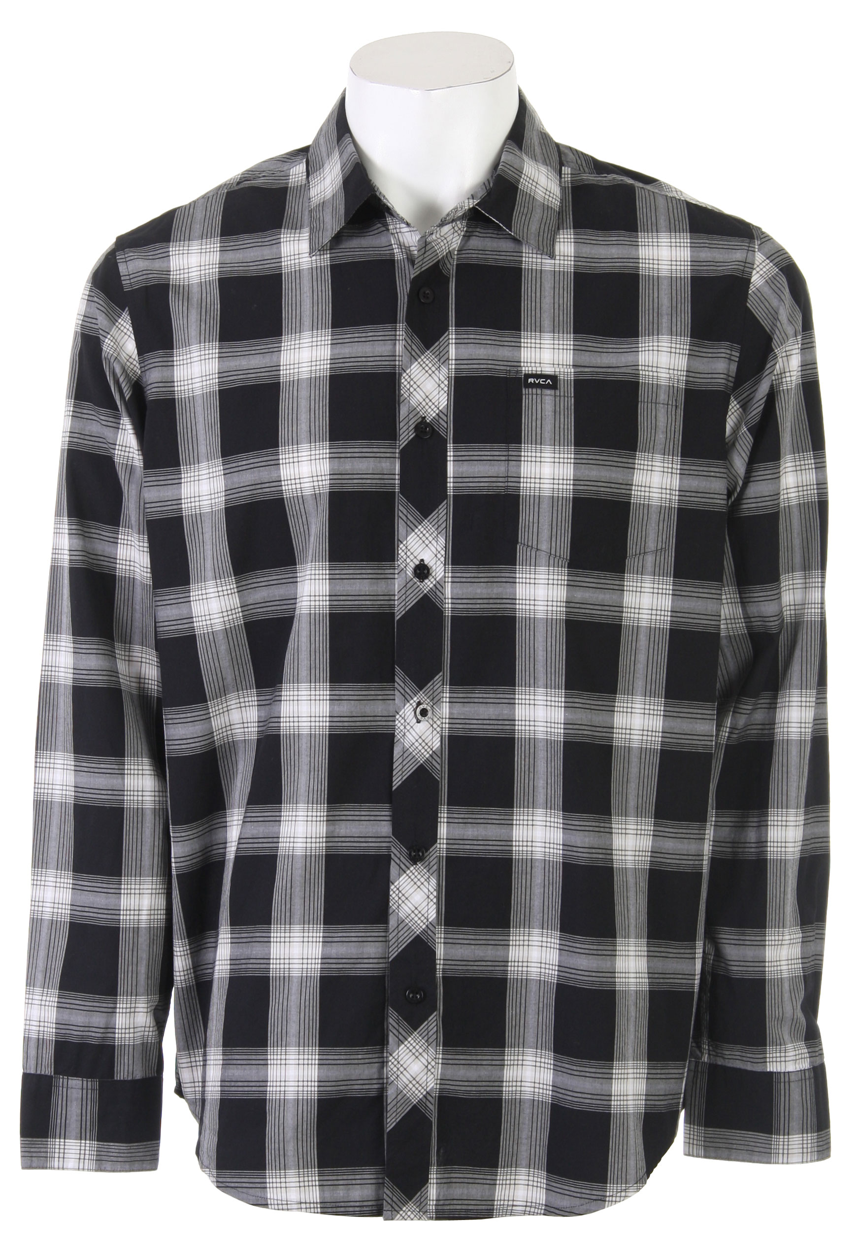The RVCA 17Th Street Plaid L/S Shirt can be worn all year long. Featuring its casual plaid design, this collared button down shirt is a must-have. So comfortable, you can pair these with jeans or some trousers and you're all set to go. There you have it, the shirt that'll go with just about anything. Just wear it and be sure to feel good.Key Features of the RVCA 17Th Street Plaid L/S Shirt: Regular Fit Cotton poplin yarn dyed plaid long sleeve button down shirt Patch pocket at front left chest with RVCA woven label - $31.95