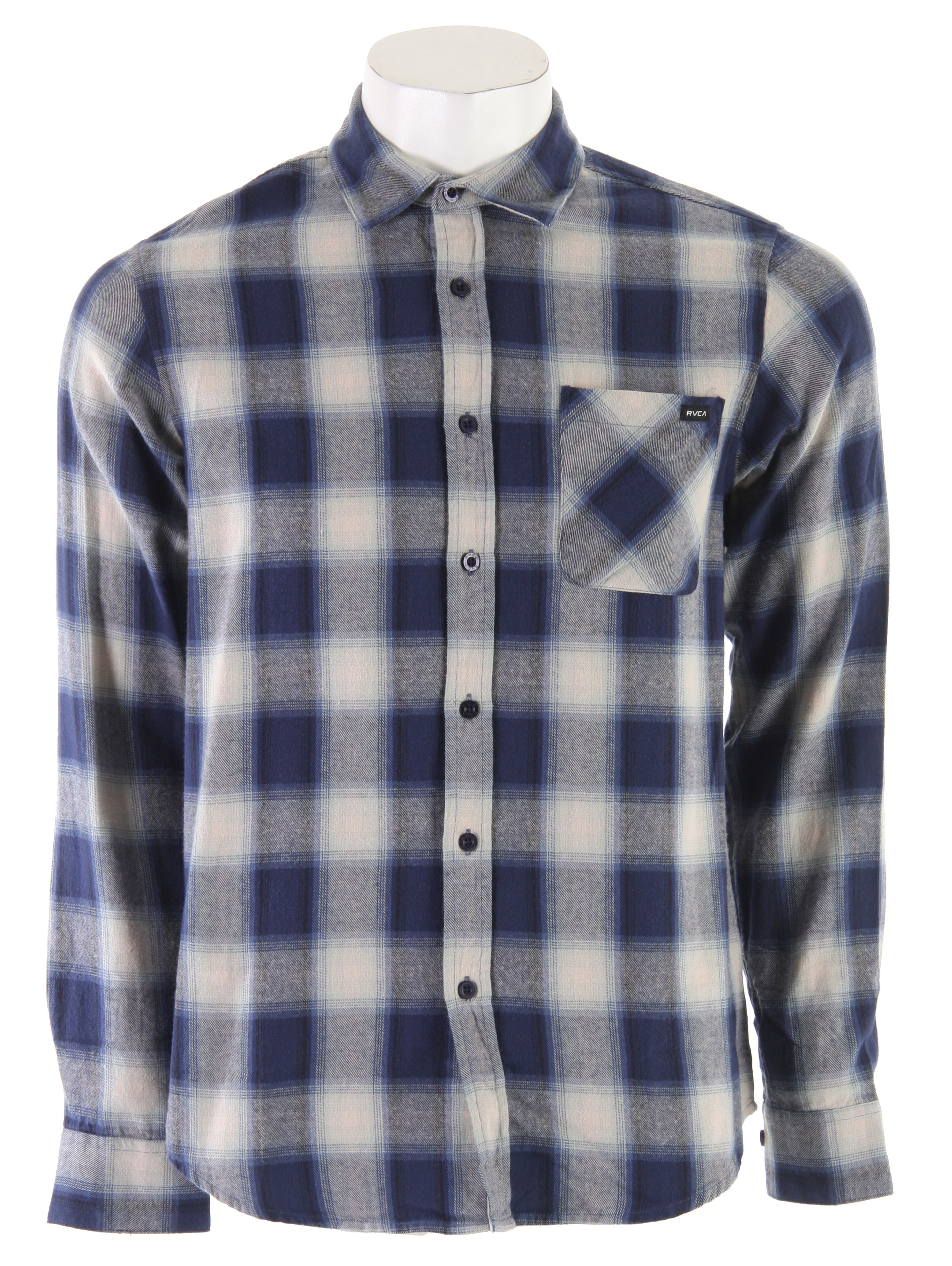 Guns and Military Add this ultra comfy flannel shirt to your wardrobe collection. The RVCA Dalton L/S Shirt is made with cotton featuring a classic flannel button down design. Slim fit, pair it with corduroys or your favorite pair of jeans and you're set to hit the town. Stay casual yet stylish with the RVCA Dalton L/S Shirt. Ultra comfortable and cozy, you can wear this almost anywhere. Hit the town with confidence and style.Key Features of the RVCA Dalton L/S Shirt: Cotton flannel button down Patch pocket at front with button closure Slim fit. - $37.95