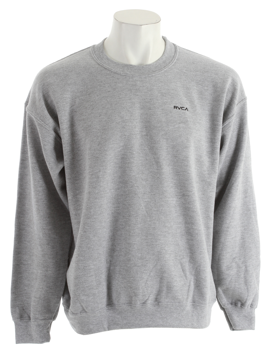 Key Features of the RVCA Little RVCA Crew Sweatshirt: 80% cotton/20% polyester lightweight fleece pullover crew Rib cuffs and waistband Front embroidery with inside neck print - $33.95
