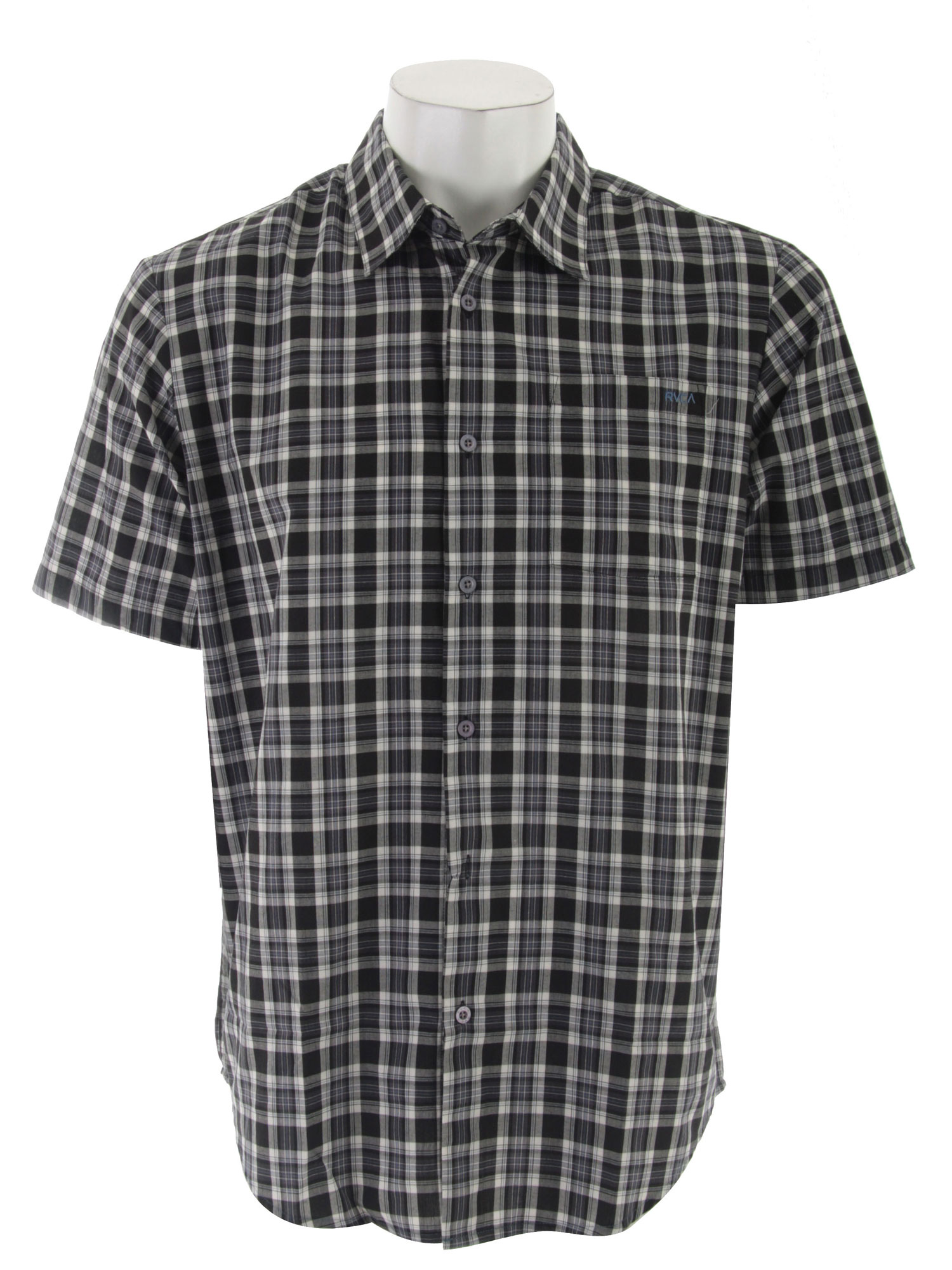 So you've got style on the mountain but what about off the mountain? Sure you can impress the ladies with your double-cork but if you don't have the wardrobe to match you're coming out flat! RVCA has got you covered with the Radio Plaid S/S Shirt collection. This short sleeve button down has a fully functioning front left pocket that you can stuff all the phone number you get into. Combining smart and cool, this casual shirt belongs in any rider's closet.Key Features of the RVCA Radio Plaid S/S Shirt: Cotton/Polyester short sleeve button down Patch pocket at left front chest RVCA embroidery at left chest pocket VA flag label at bottom left side Regular fit - $28.95