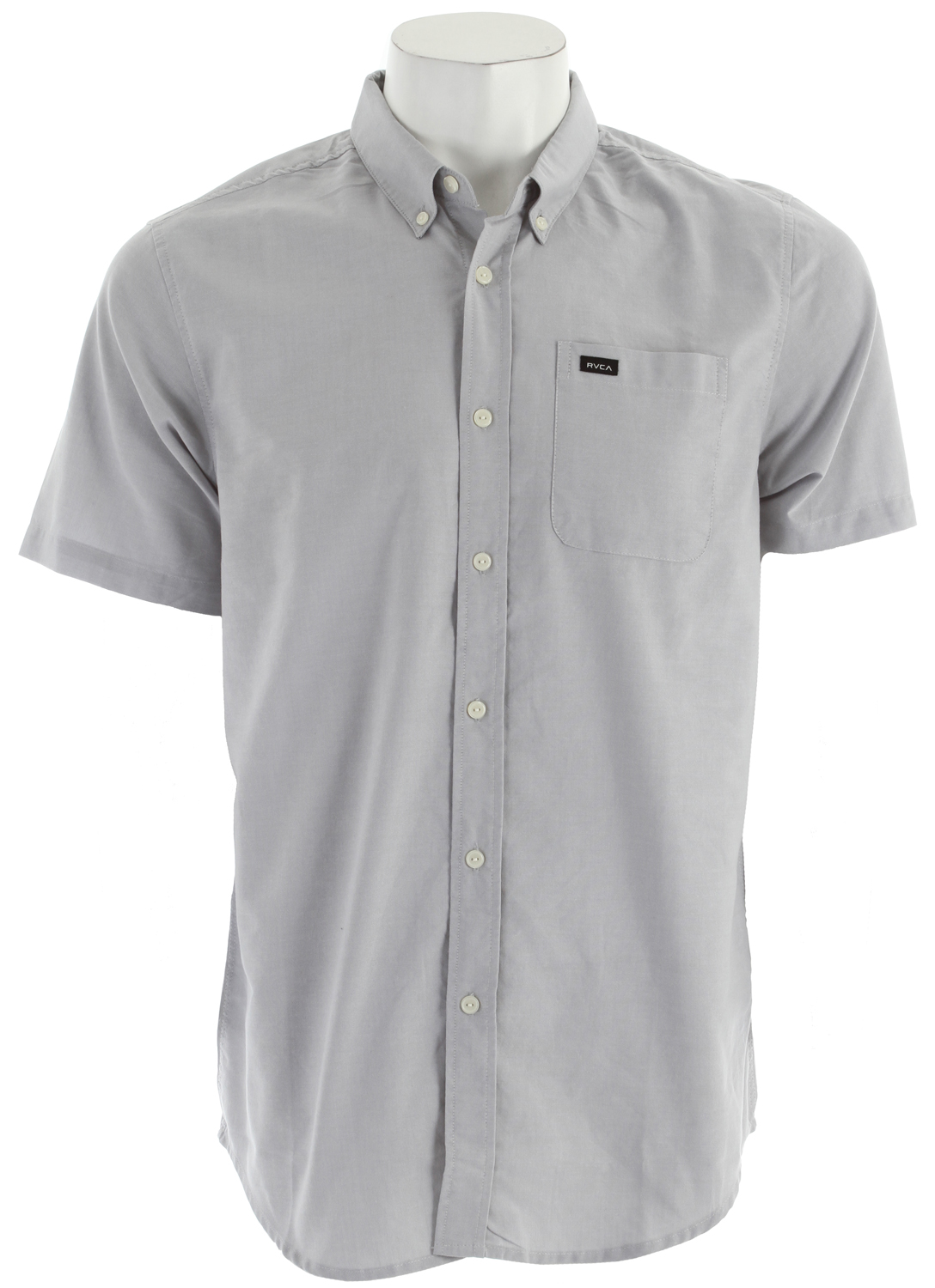 Key Features of the RVCA That'll Do Oxford Shirt: Slim fit 60% cotton/40% polyester oxford Short sleeve woven button down shirt One patch pocket at left chest with RVCA solo label Buttons at collar points - $33.95