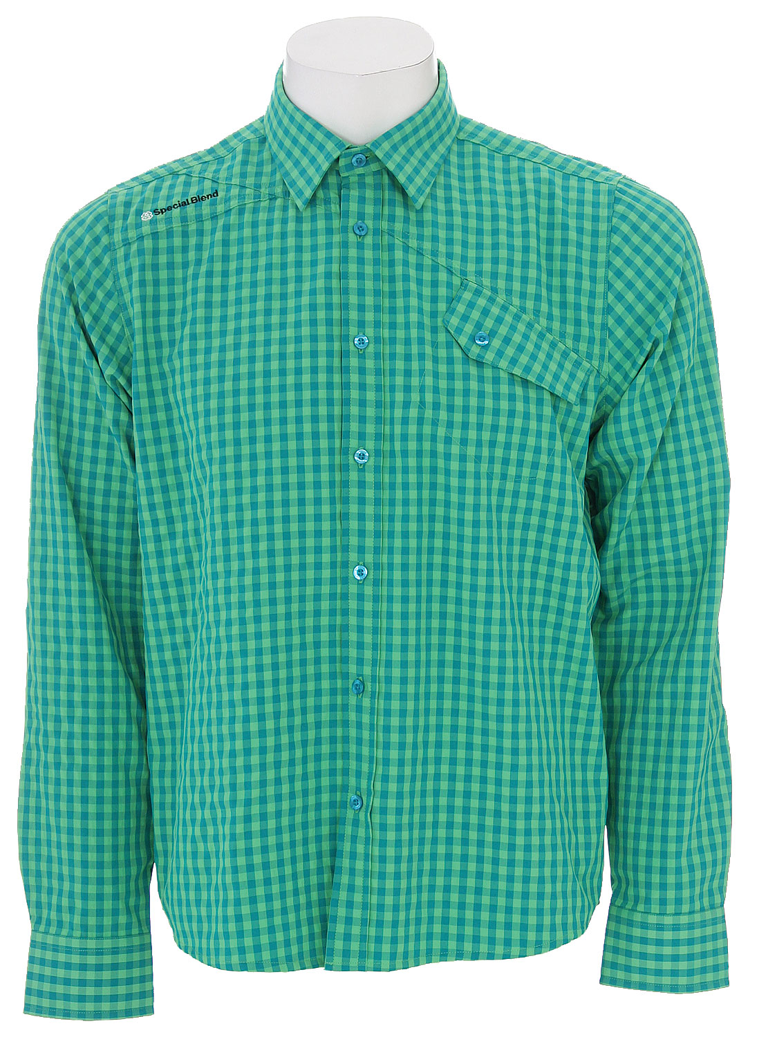Entertainment The Special Blend Dress Up Shirt - Small Gingham / Wicking Properties / 62% Polyester, 38% Nylon - $20.96