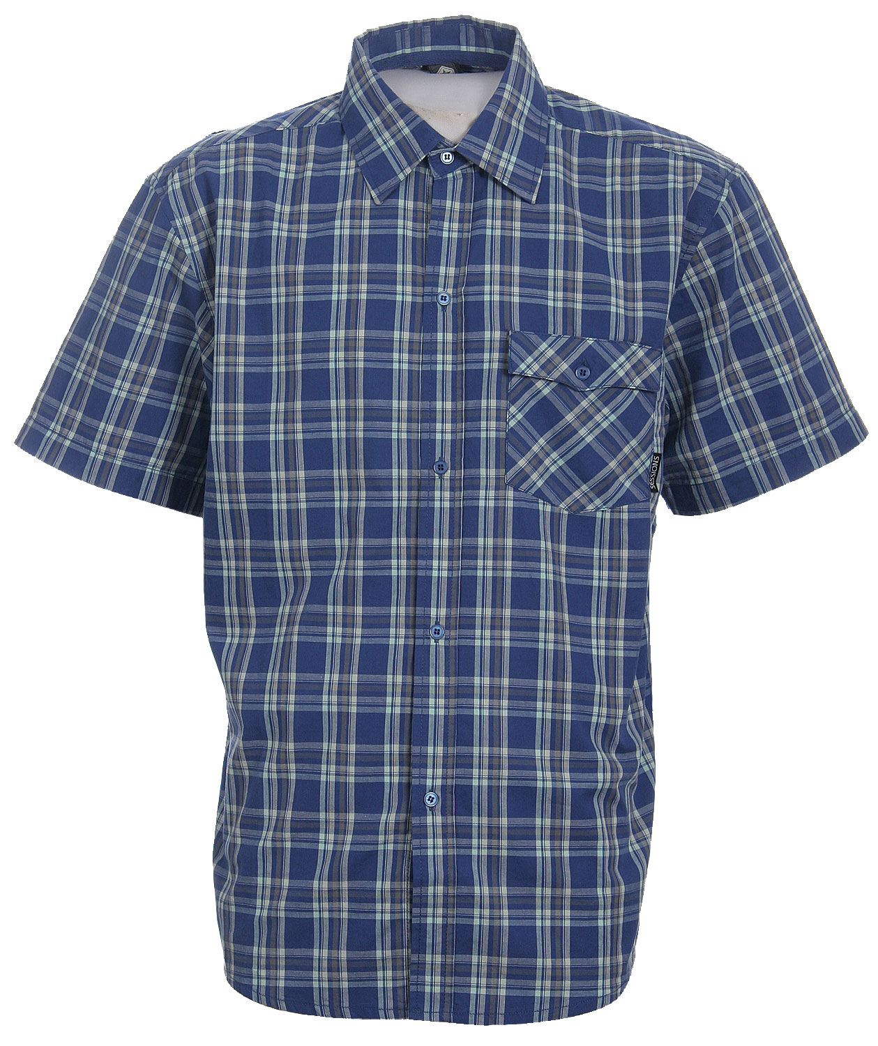 Look casual with the Sessions Haiden S/S Shirt. You can never have too many casual shirts. They're perfect for everyday daytime wear. This shirt is made with 100% cotton, the perfect fabric to keep you feeling comfortable all throughout the day. Its plaid design adds a nice rural touch to the outfit. Add this shirt to your wardrobe and rock it to your next casual event in style.Key Features of The Session Haiden S/S Shirt: 100% Cotton S/S Cotton 4-Color Plaid Woven with Front Chest Pocket Screen Print Applique on Back Shoulder - $19.95