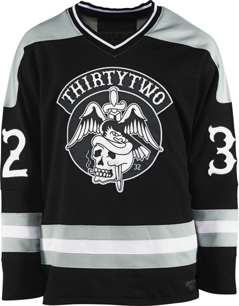 Sports Hockey-inspired jersey.Key Features of the Thirty Two Icing Hockey Jersey: 55% Cotton/45% Polyester Printed/Embroidered Appliques - $46.95