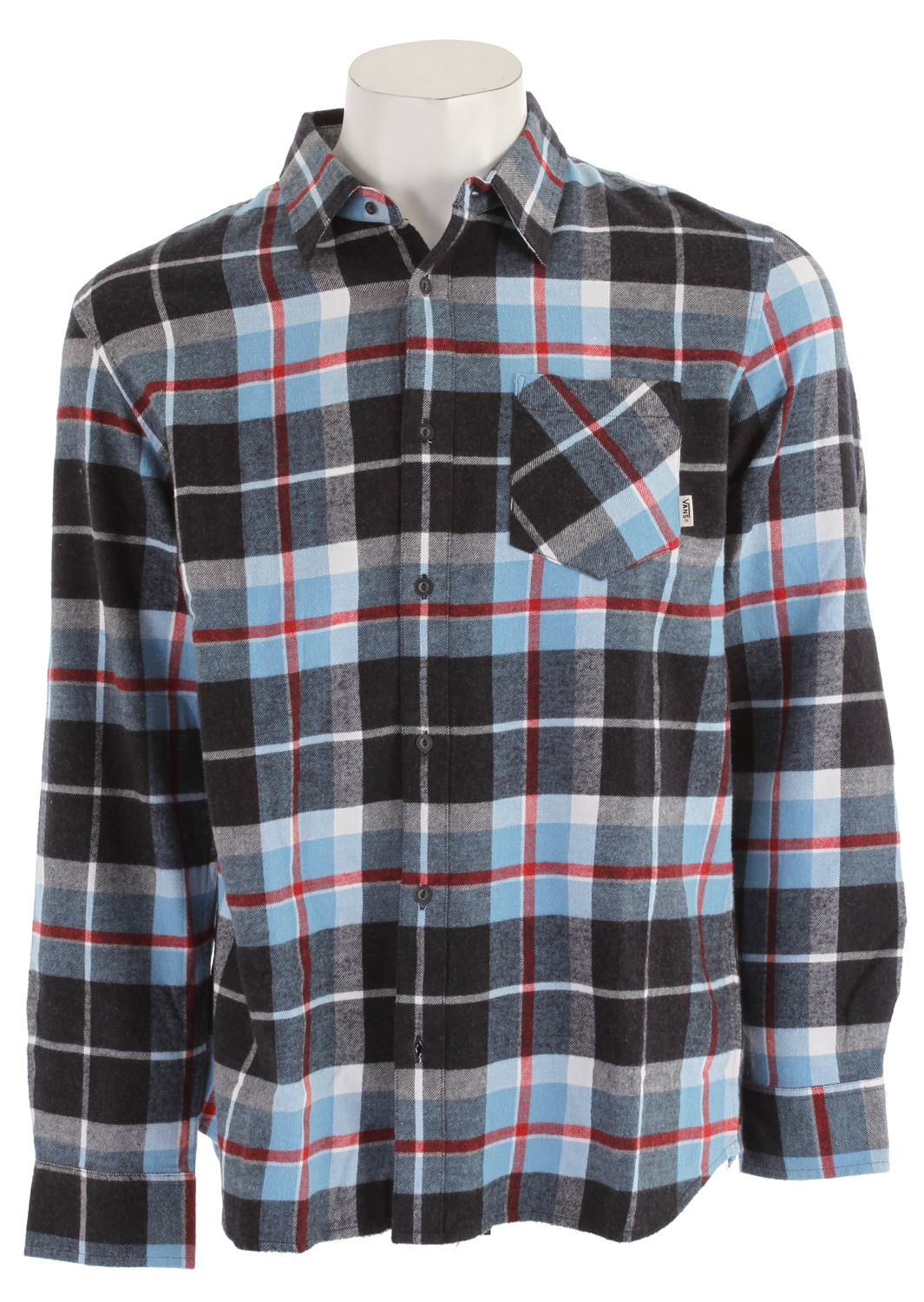 Skateboard Key Features of the Vans Clockout Shirt: 100% Cotton Flannel Long Sleeve button down - $23.96