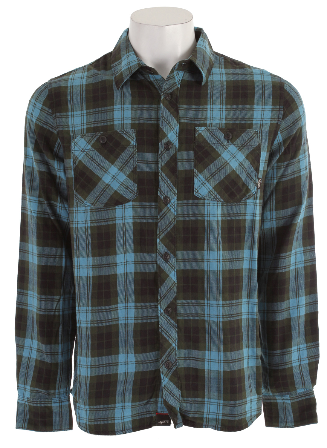 Skateboard Key Features of the Vans Marr Flannel Shirt: 100% Cotton long sleeve unbrushed ? annel with double chest pockets with Vans ? ag label Tahoe trim fabric at inner yoke Vans clamp label on bottom placket V-stitch detail on back yoke Slim Fit - $48.95