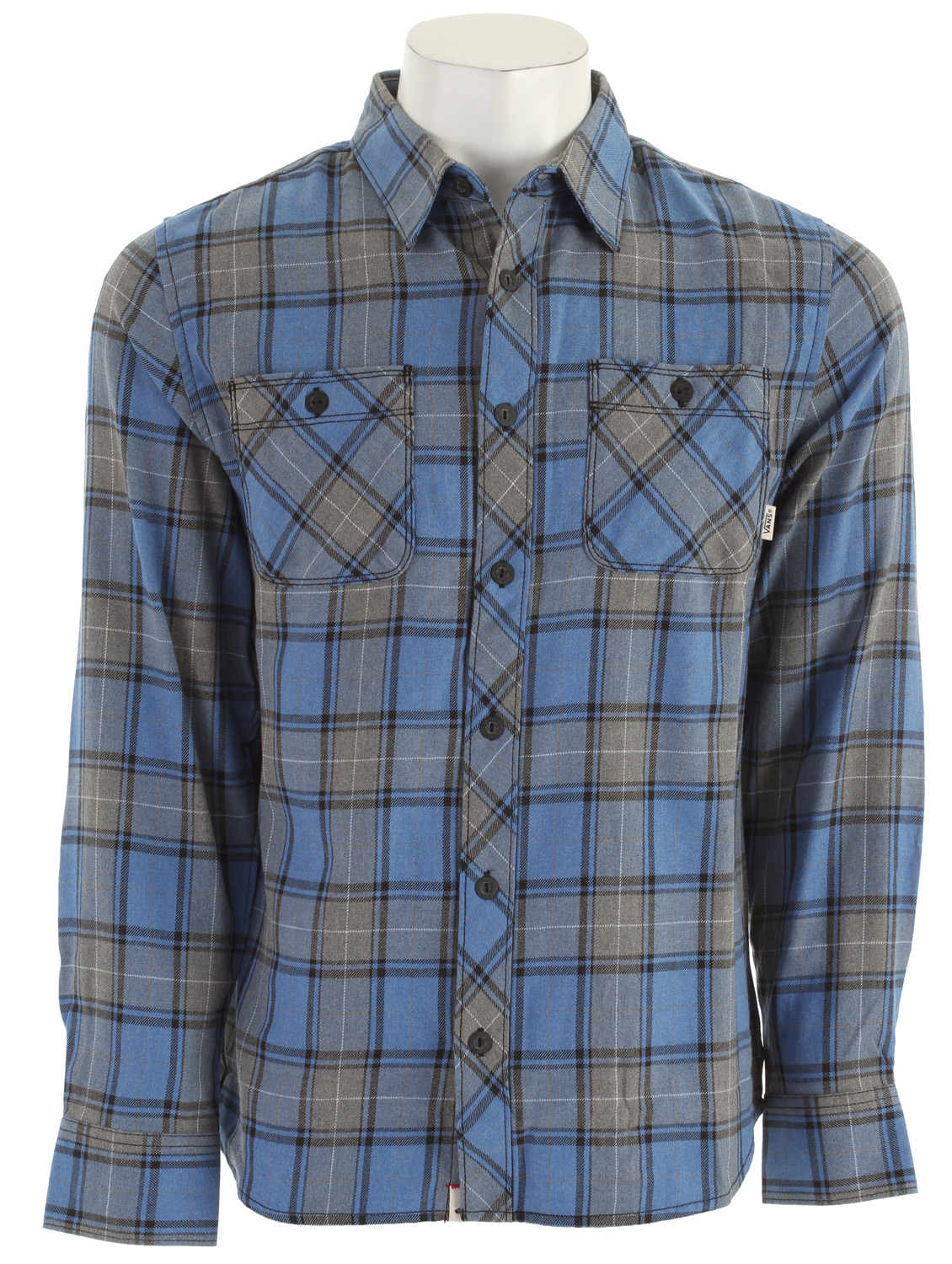 Skateboard Key Features of the Vans Quintessence Shirt: Long Sleeve Woven Button Down Dual chest pockets 100% Cotton - $18.95