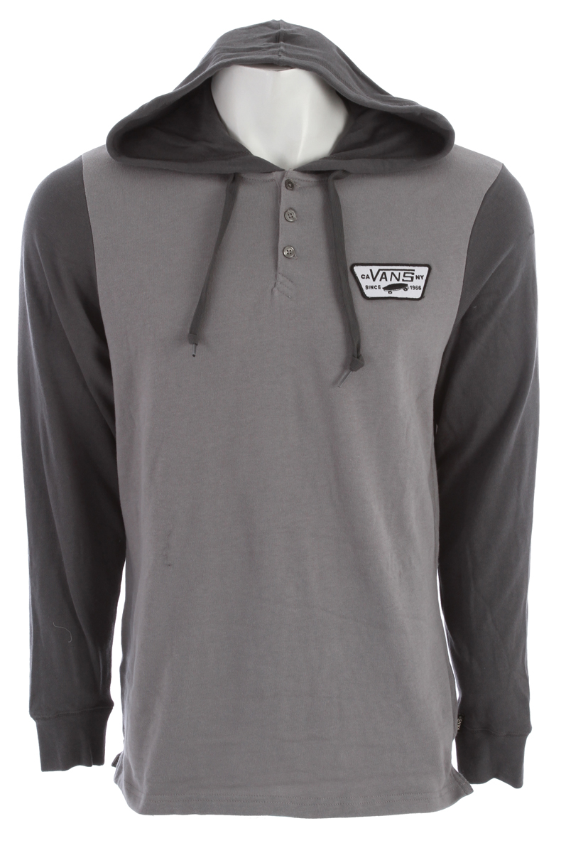 Skateboard Key Features of the Vans Sterne Henley: 100% Cotton long sleeve henley hoodie with mini waffle thermal fabrication Vans patch label on left chest Lined hood with drawstrings Vans flag label at side seam Ribbed cuffs Side hem detailing. - $35.95