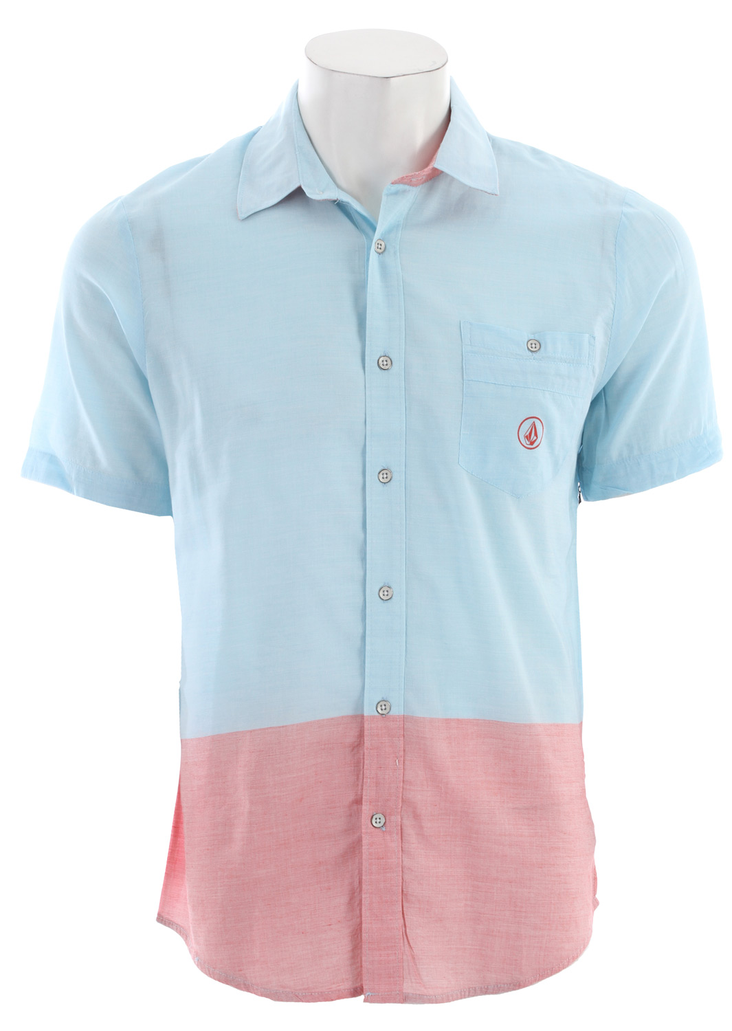 Surf Key Features of the Volcom Bank Lock Shirt: Slim Fit Interior hem contrast banding Stone embroidery Button closure Enzyme wash 60% Rayon / 40% Cotton Engineer Yarn dye stripe - $31.95