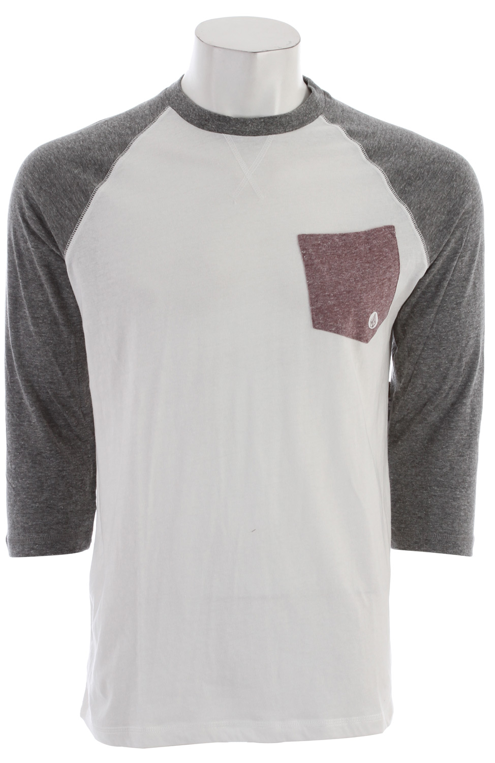 Surf Key Features of the Volcom Base Line 3/4 Sleeve Raglan: 3/4 sleeve Contrast pocket & sleeves Slim fit 65% recycled cotton/35% polyester jersey V.Co-Logical Collection - $24.95