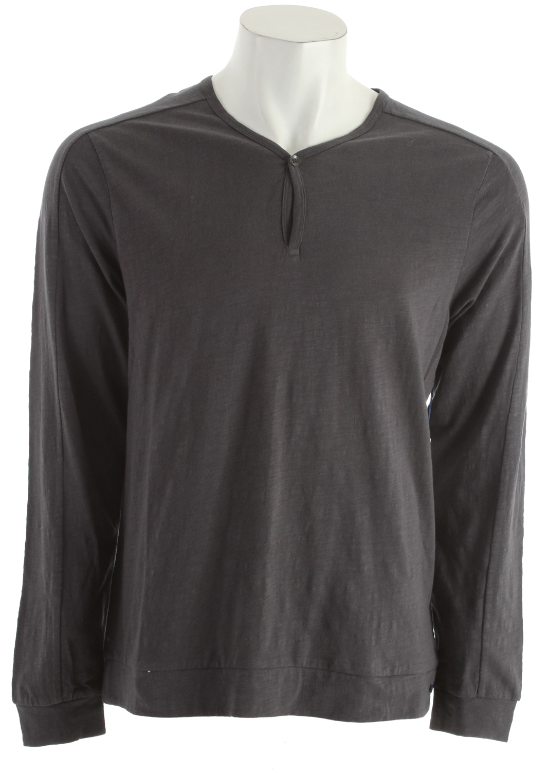 Surf Volcom Henson Henley L/S Shirt Metal Heather - $27.95