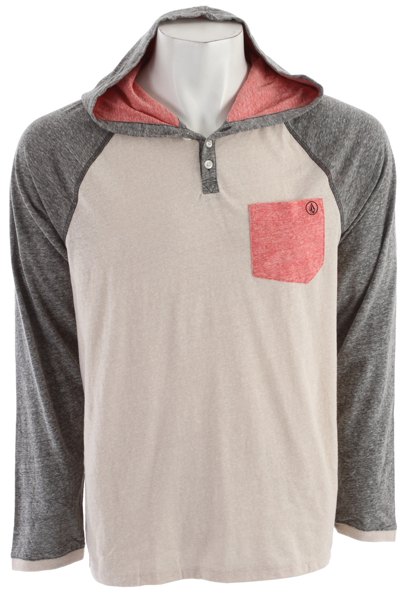 Surf Key Features of the Volcom Tempest Hooded Henley: Slim fit hooded Henley Sleeve Raglan Henley neck entry Contrast pocket, sleeve & inner neck Screened logos 55% Recycled Cotton / 45% Polyester Maried - $32.95