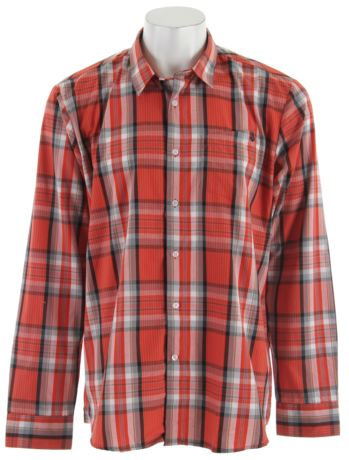 Surf The Volcom X Factor Plaid L/S Shirt is the best selling long sleeve shirt that picks up the pace in a classic plaid print. Ultra versatile and makes for a killer counterpart to whatever you pair it with. Designed with a chest pocket with a pen slot and small logo stone embroidery, a contrast innerKey Features of the Volcom X Factor Plaid L/S Shirt: Classic Fit Yarn Dye Shirt With Pen Slot Detail at Pocket and Stone Embroidery Garment Wash Corpo Collection 60% Cotton/40% Polyester - $36.95
