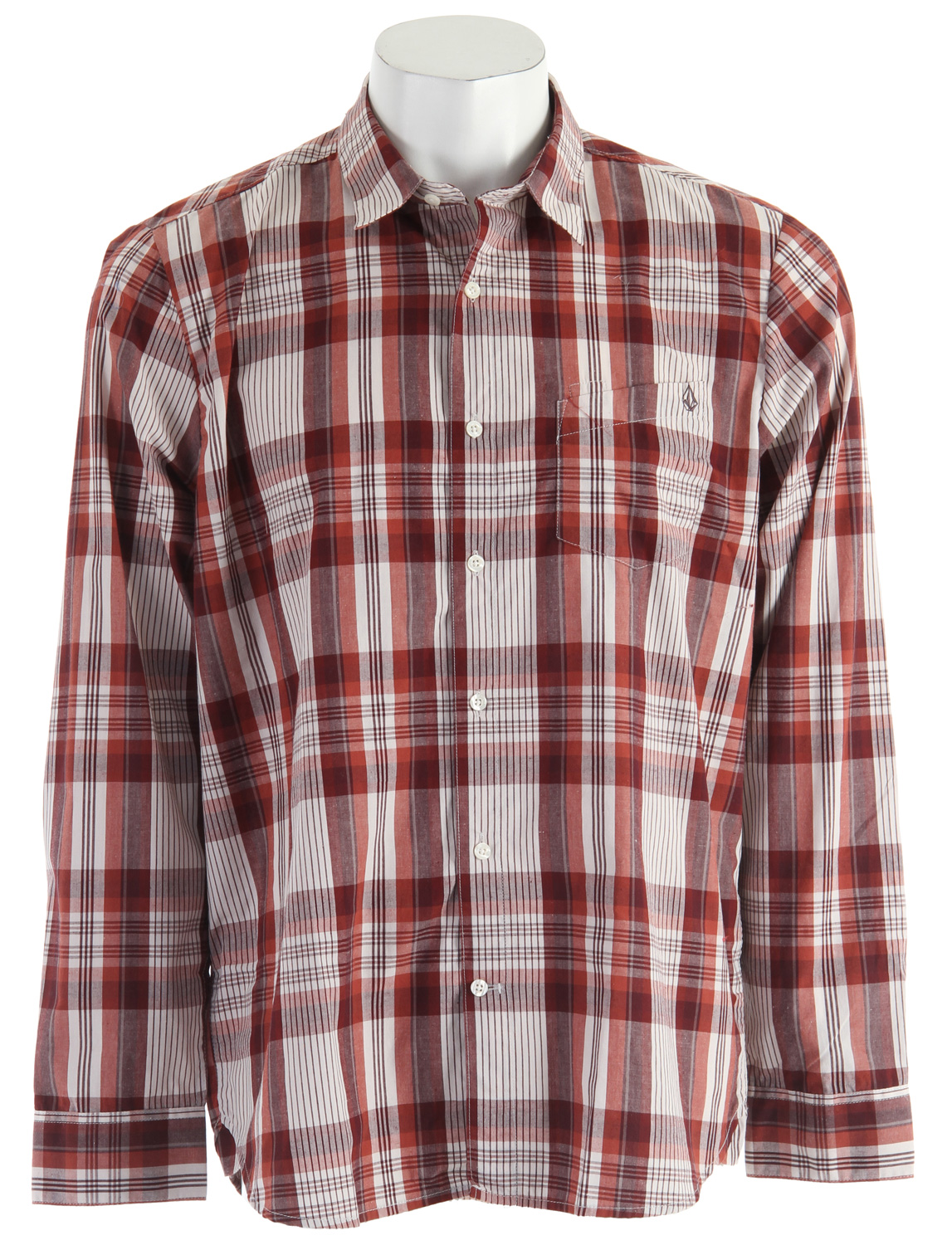 Surf Key Features of the Volcom X-Factor Plaid L/S Shirt: Classic fit yarn dye shirt Pen slot detail at pocket and Stone embroidery Garment wash Corpo Class Collection 60% Cotton/40% Polyester - $30.95