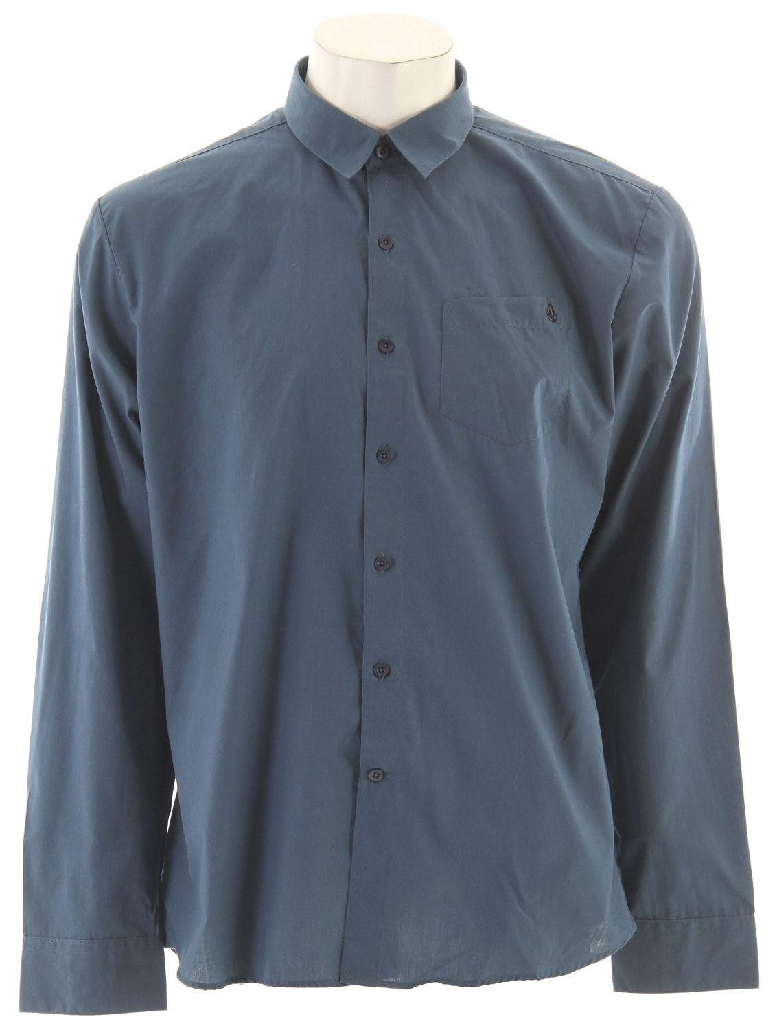 Surf Key Features of the Volcom X Factor Solid L/S Shirt: Classic fit shirt with pen slot detail at pocket Stone embroidery Garment wash Corpo class collection 55% Cotton/45% Polyester - $28.95